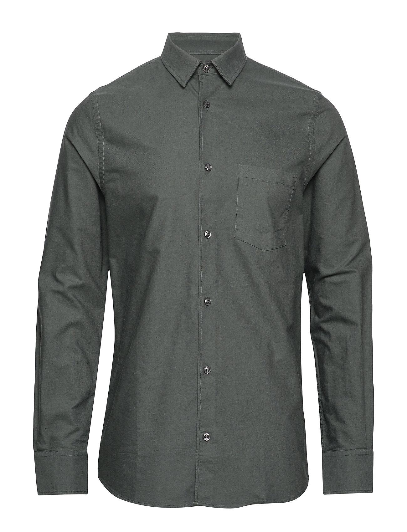 Filippa K M. Tim Oxford Shirt - STONE GREE