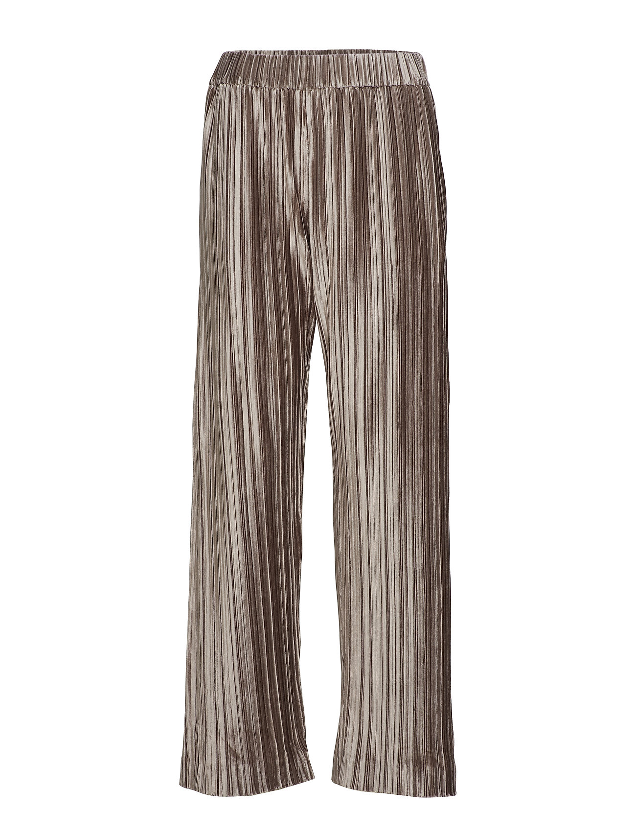 Image of Velvet Plissé Trousers Vide Bukser Brun Filippa K (3101136253)