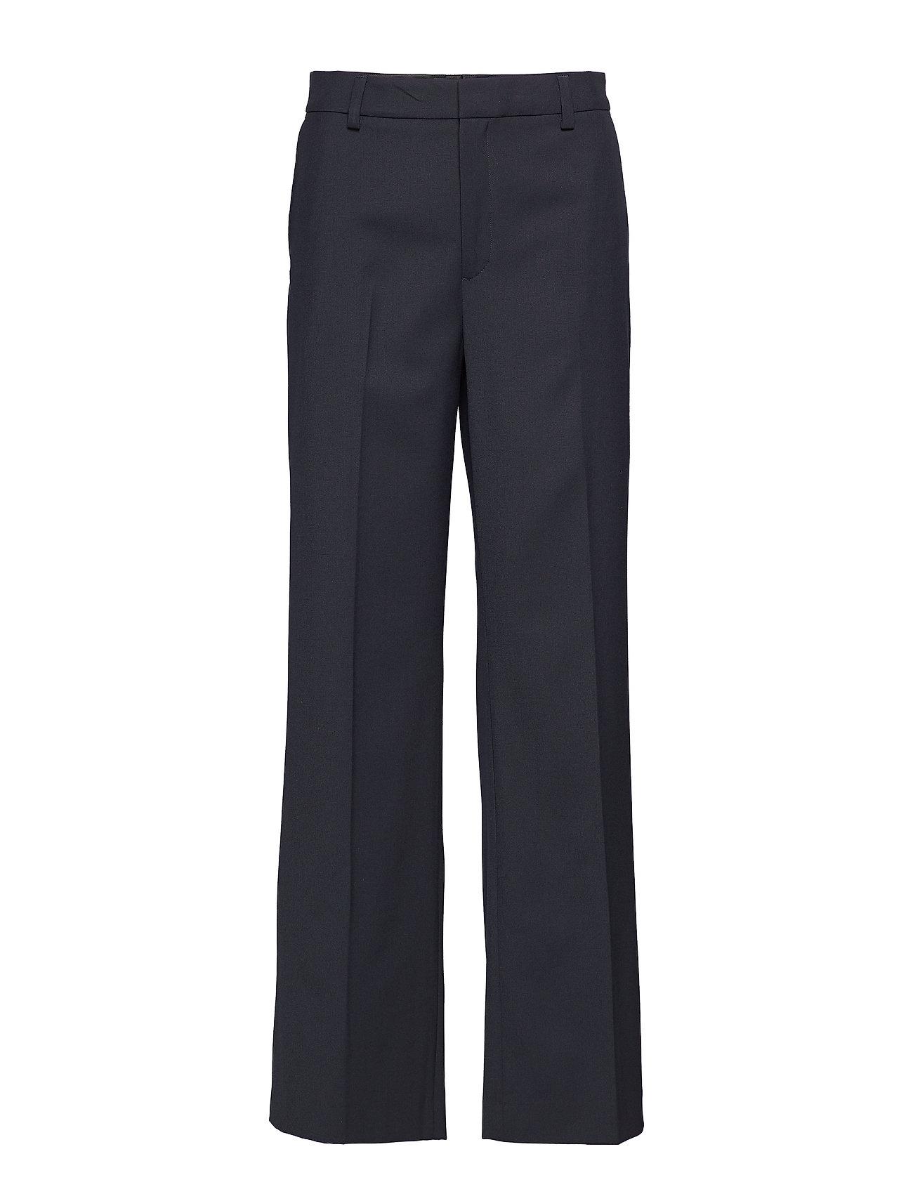 Image of Hutton Trousers Bukser Med Lige Ben Sort FILIPPA K (3105944359)