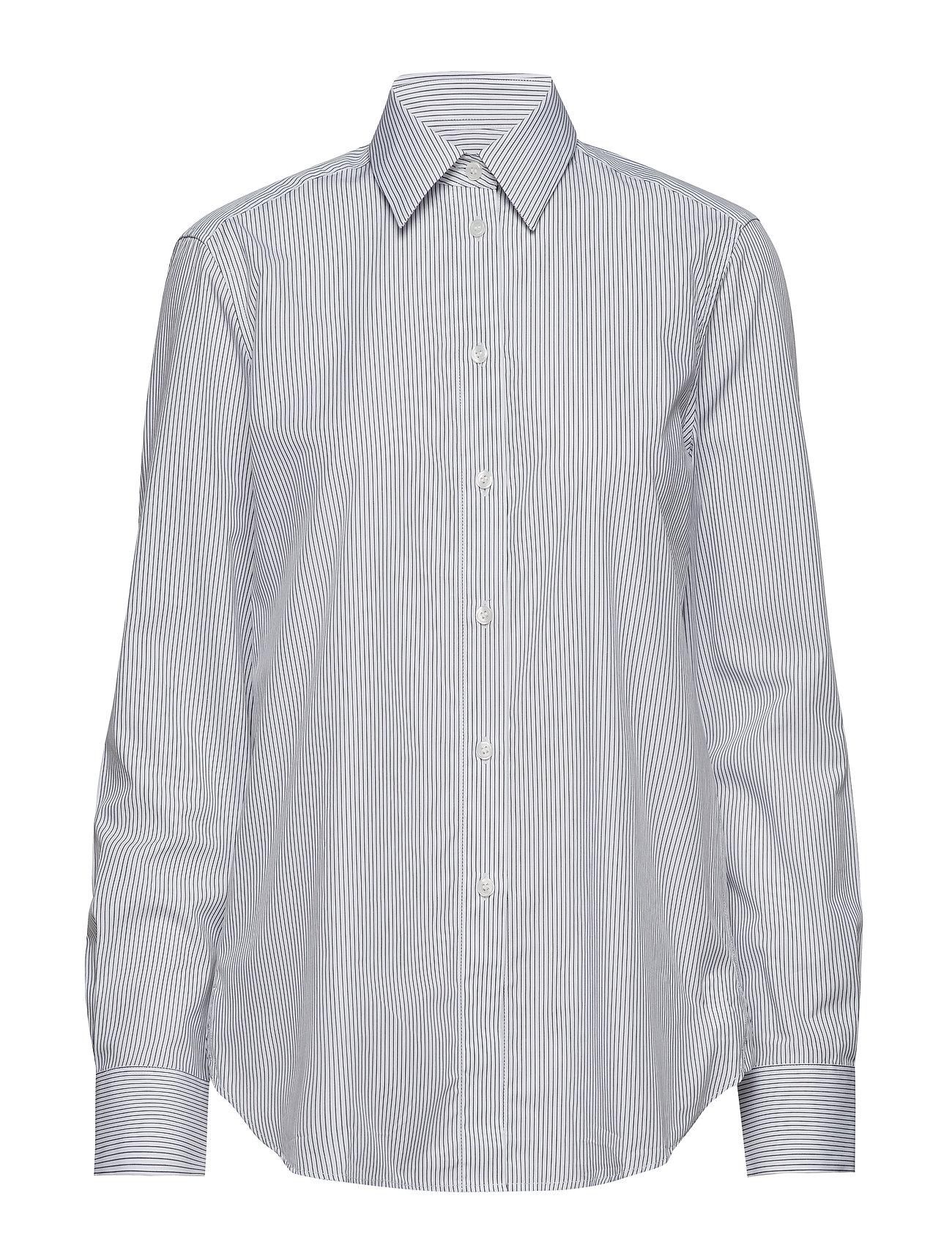 Filippa K Jane Shirt - WHITE/NAVY