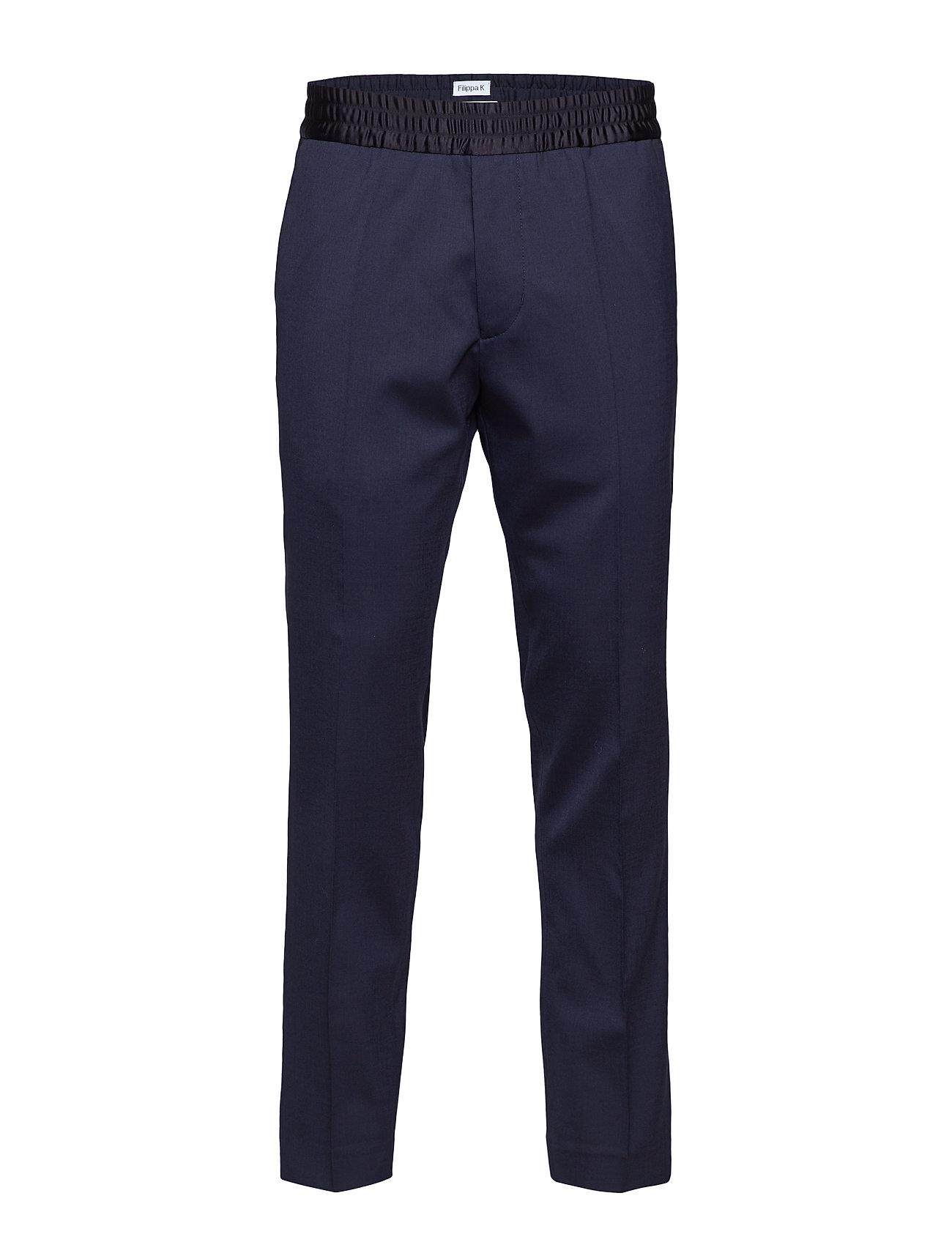 Filippa K M. Terry Tuxedo Trousers - DK. NAVY