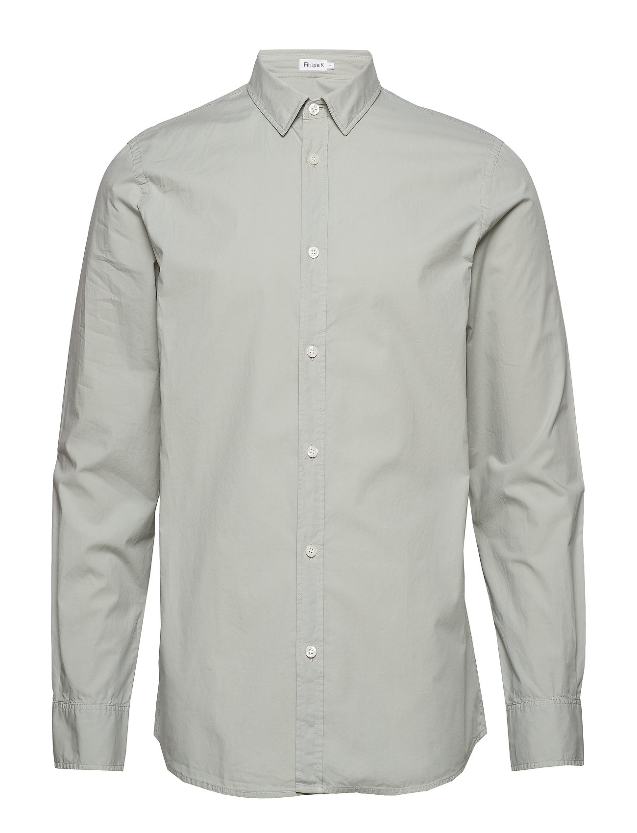 Filippa K M. Ben Poplin Shirt - LIMESTONE