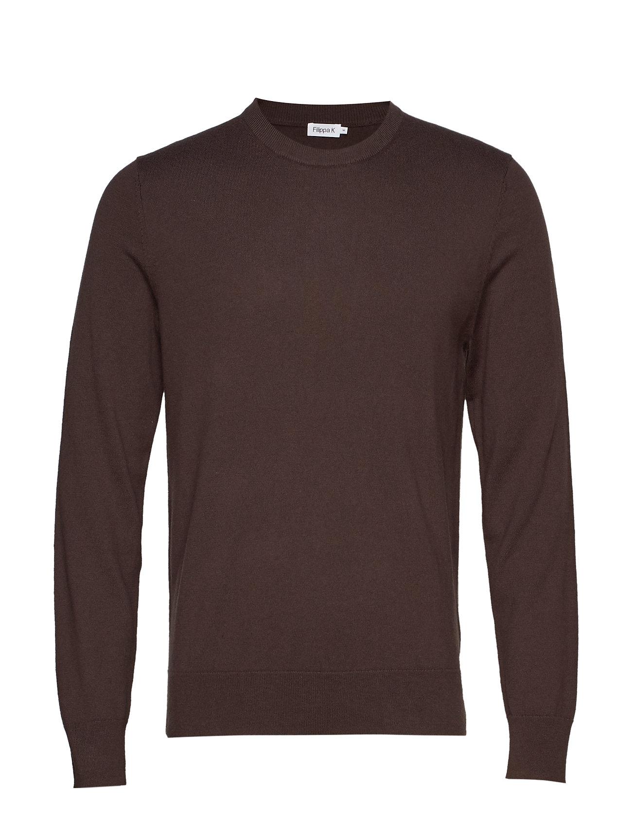Filippa K M. Cotton Merino Basic Sweater - DARK MOLE