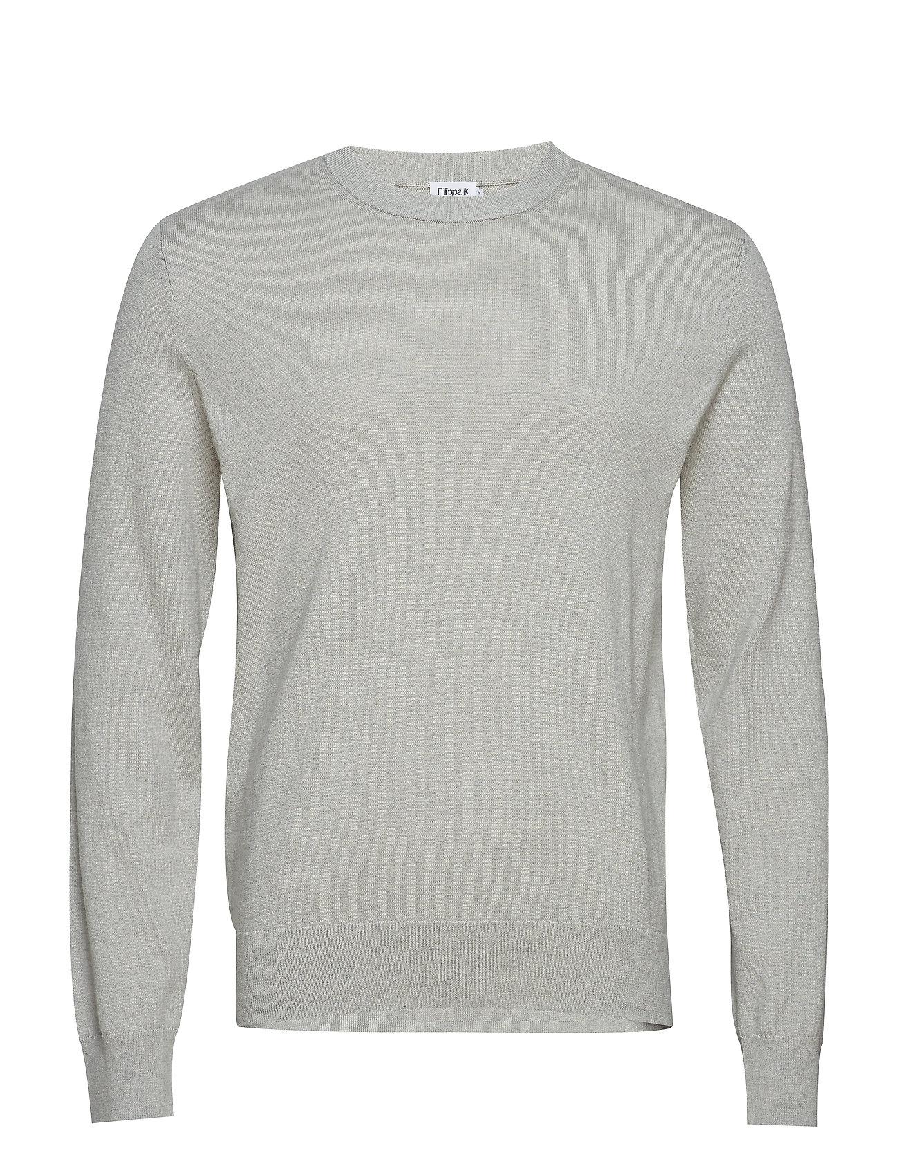 Filippa K M. Cotton Merino Basic Sweater - LIMESTONE