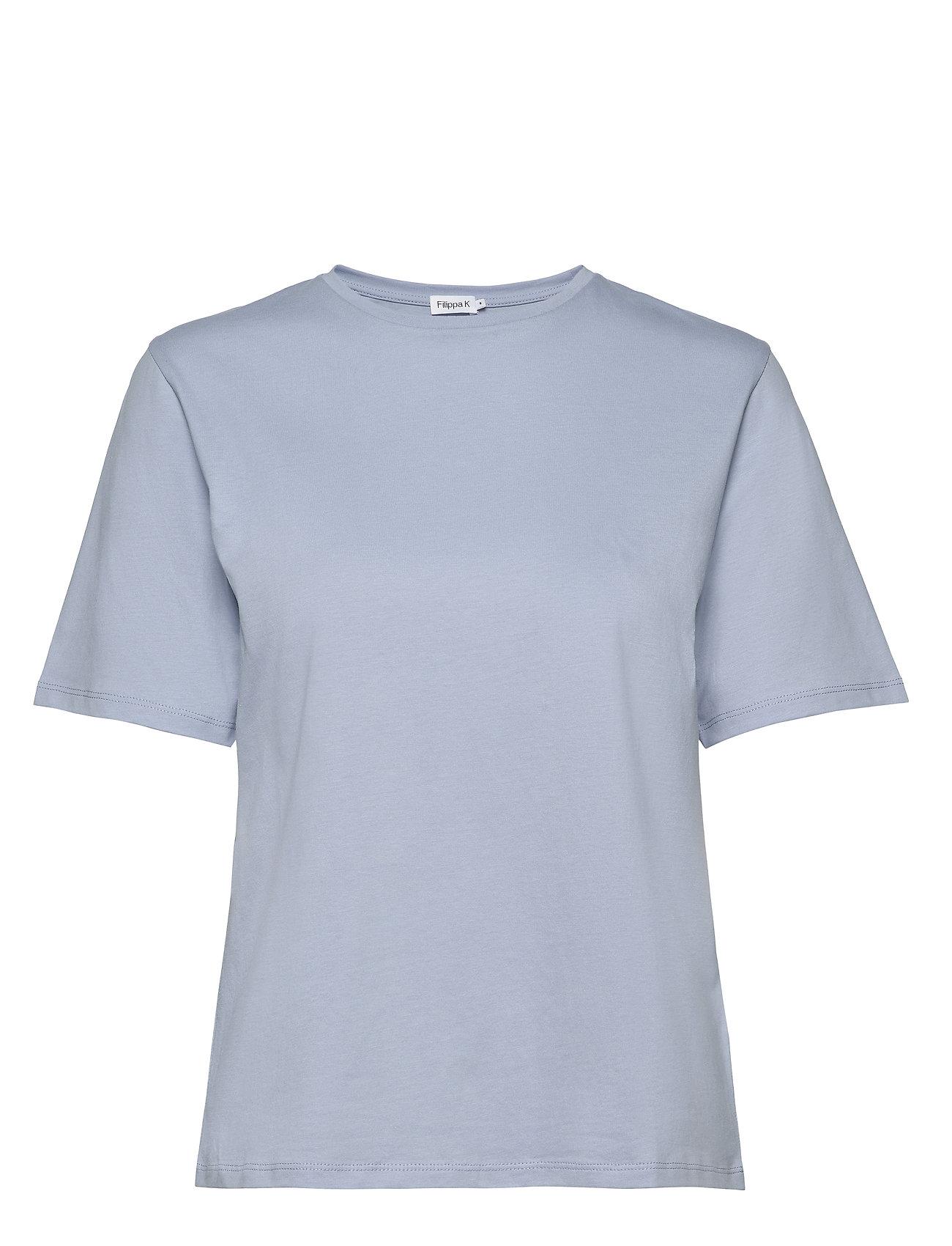 Filippa K Annie Cotton T-shirt - ICE BLUE