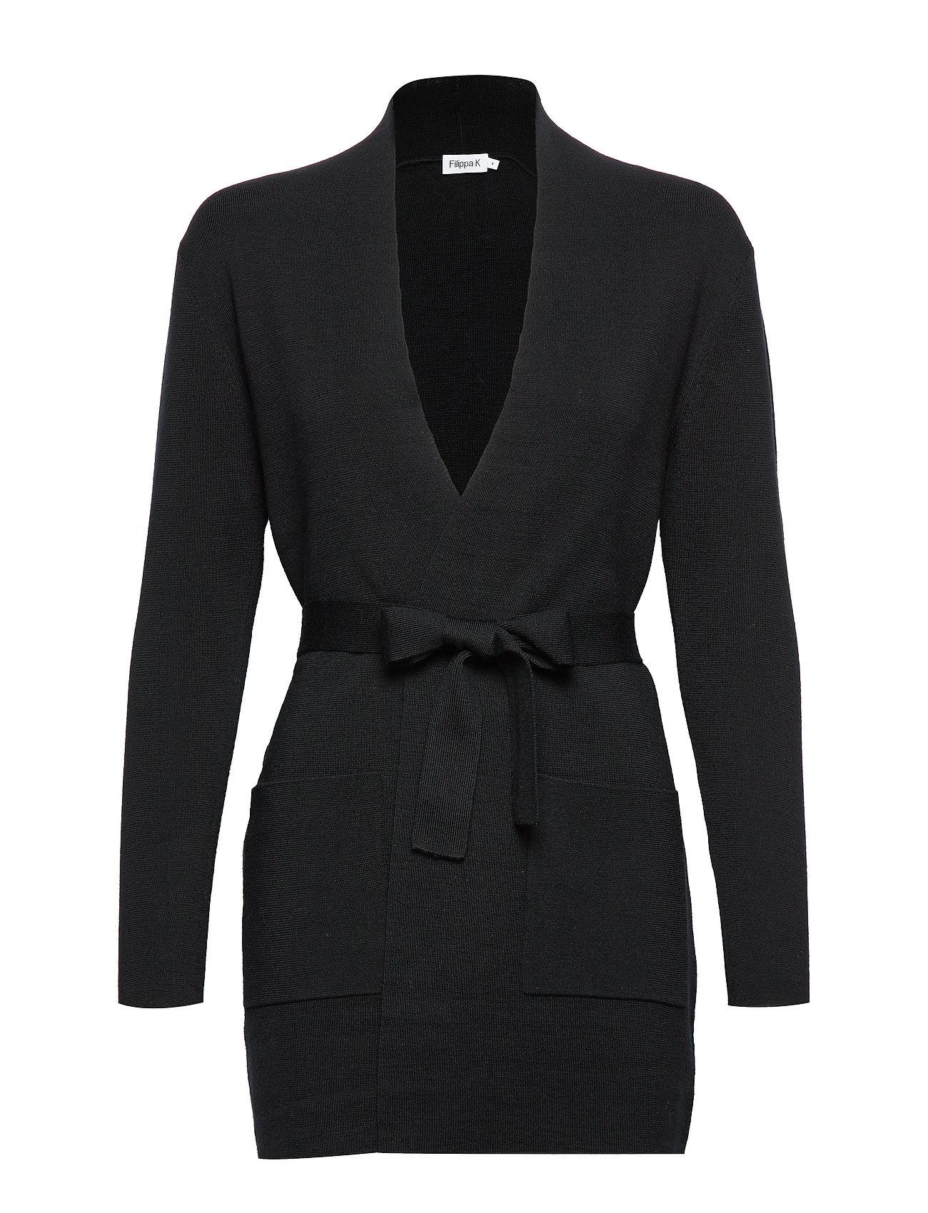 Filippa K Belted Mid Cardigan - BLACK