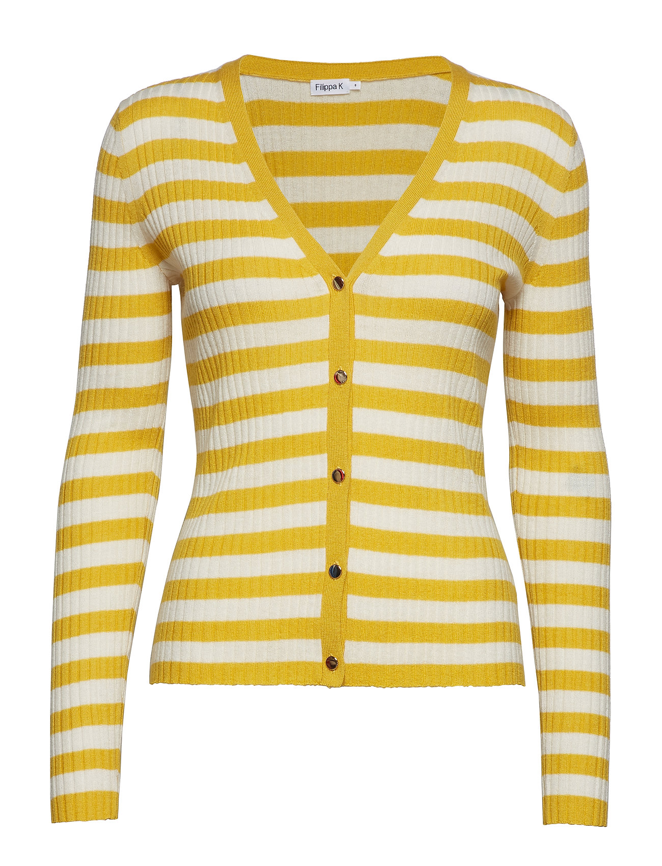 Filippa K Striped cardigan - MIMOSA/OFF