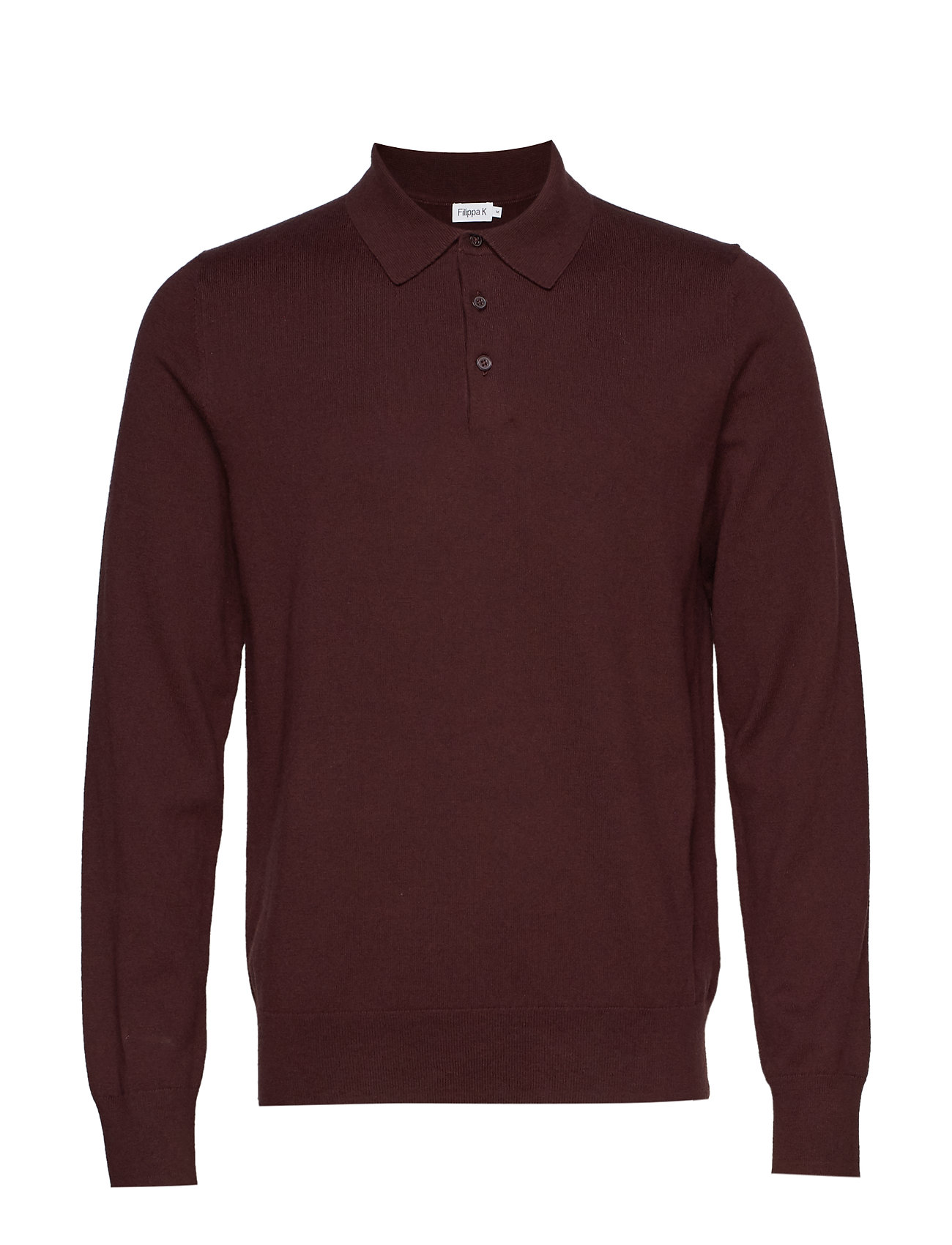 Filippa K M. Knitted Polo Shirt - DEEP SHIRA