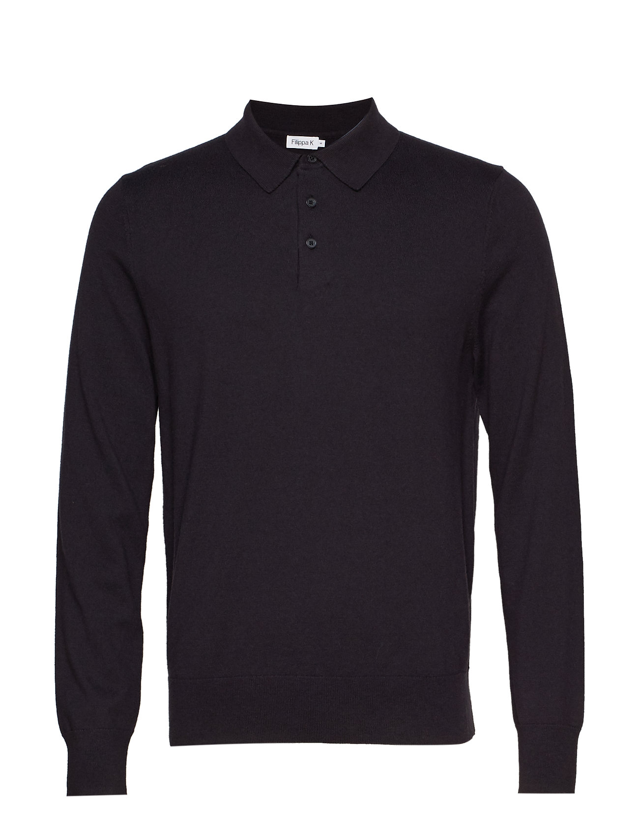 Filippa K M. Knitted Polo Shirt - INK GREY