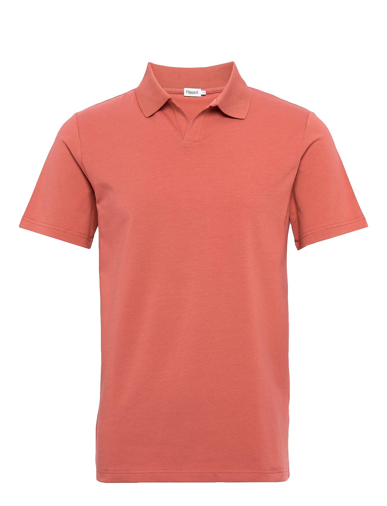 Filippa K M. Lycra Polo T-Shirt - PINK CEDAR