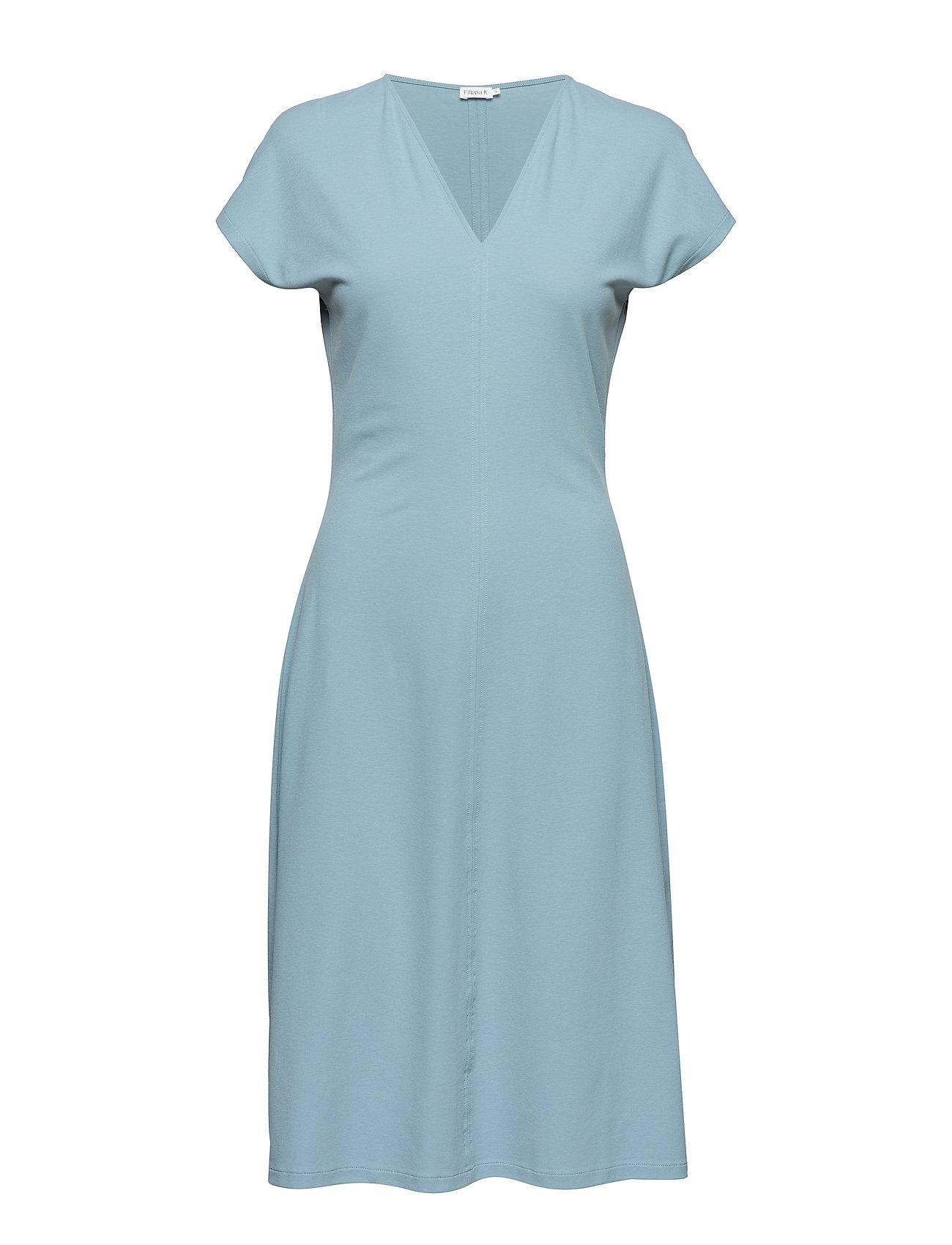 Filippa K Clean-cut Cap Sleeve Dress - KINGFISHER