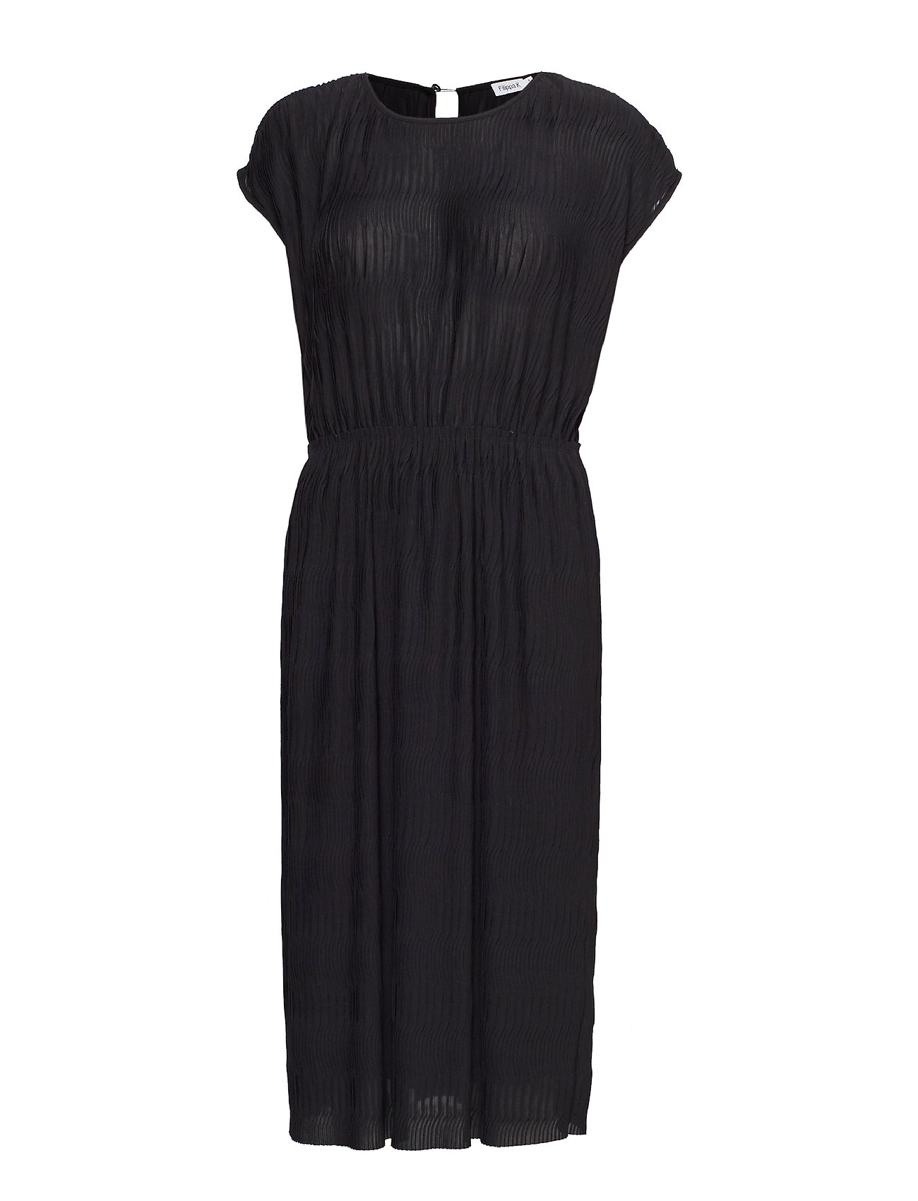 Filippa K Wave Pliss Dress - BLACK