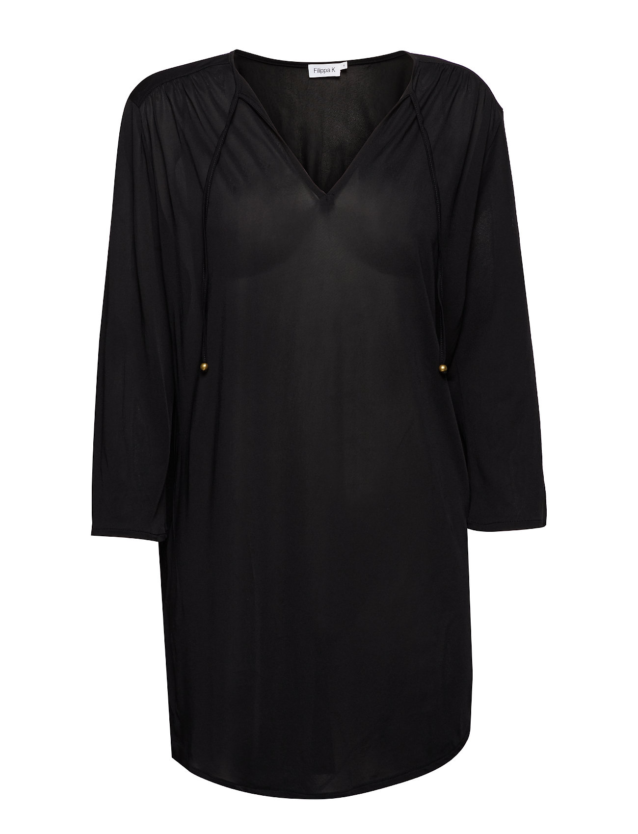 Filippa K Sheer Tunic Blouse - BLACK