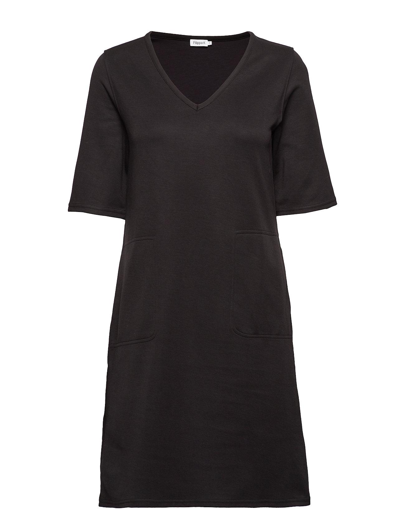 Filippa K Double face T-shirt Dress - BLACK