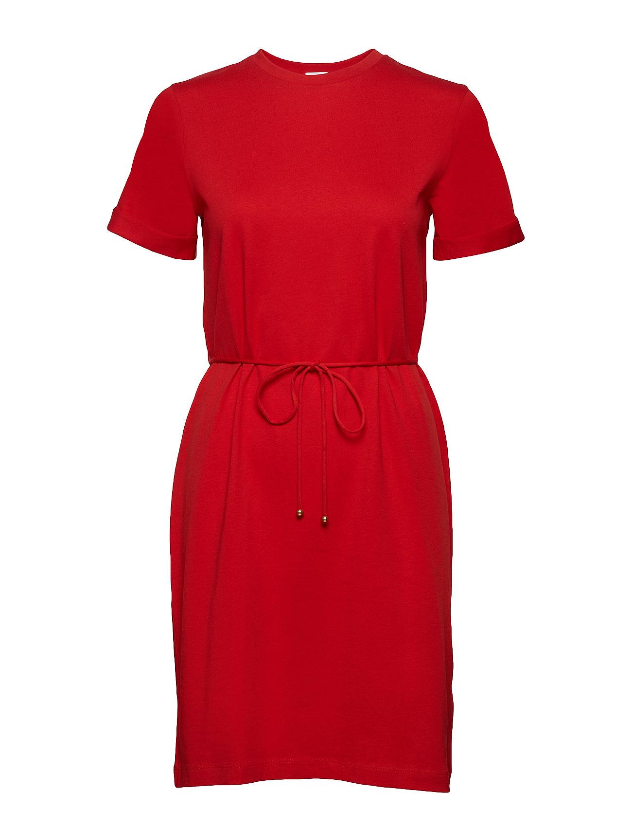 Filippa K Crew Neck T-shirt dress - BERRY RED