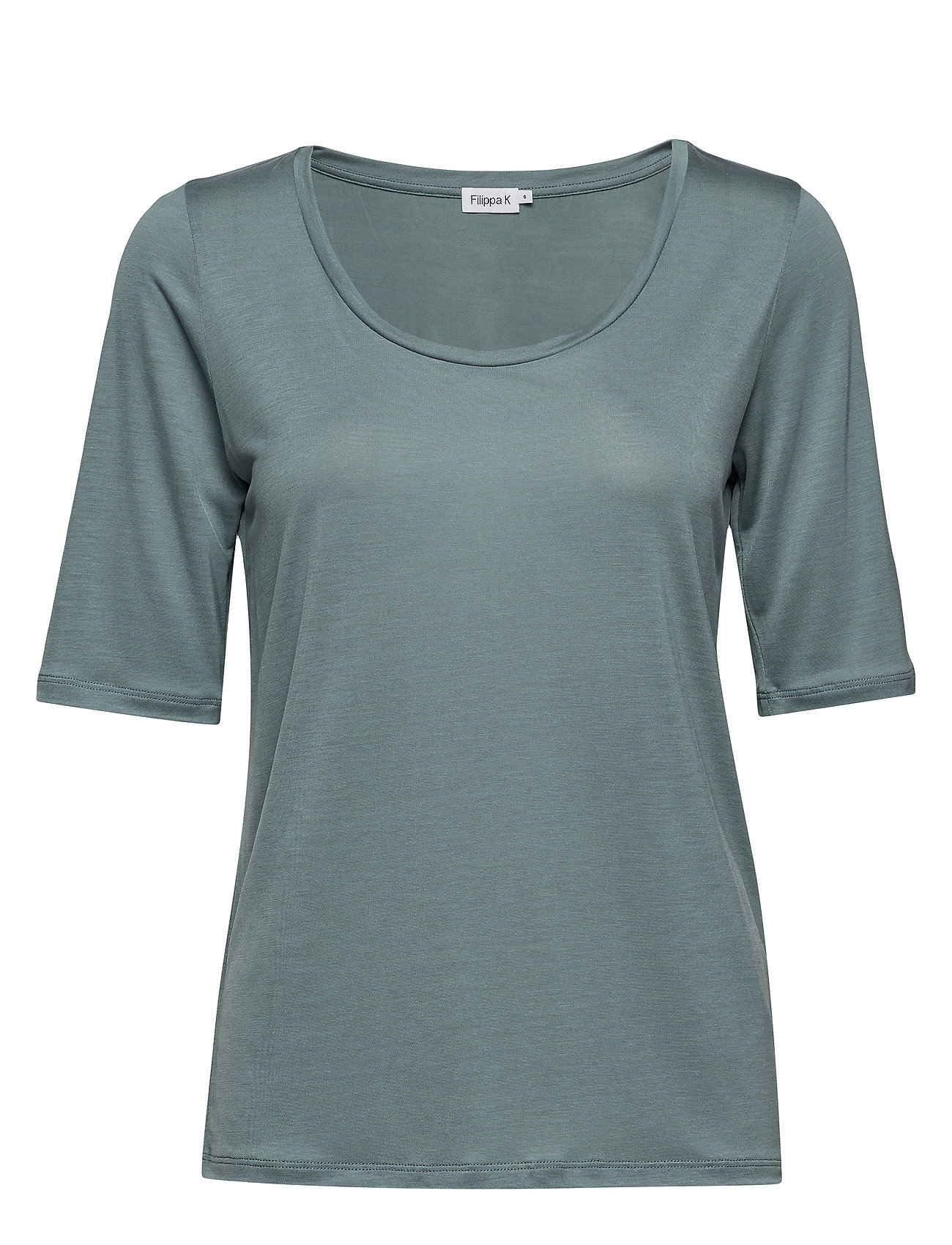 Filippa K Tencel Scoop-neck Tee - RIVER