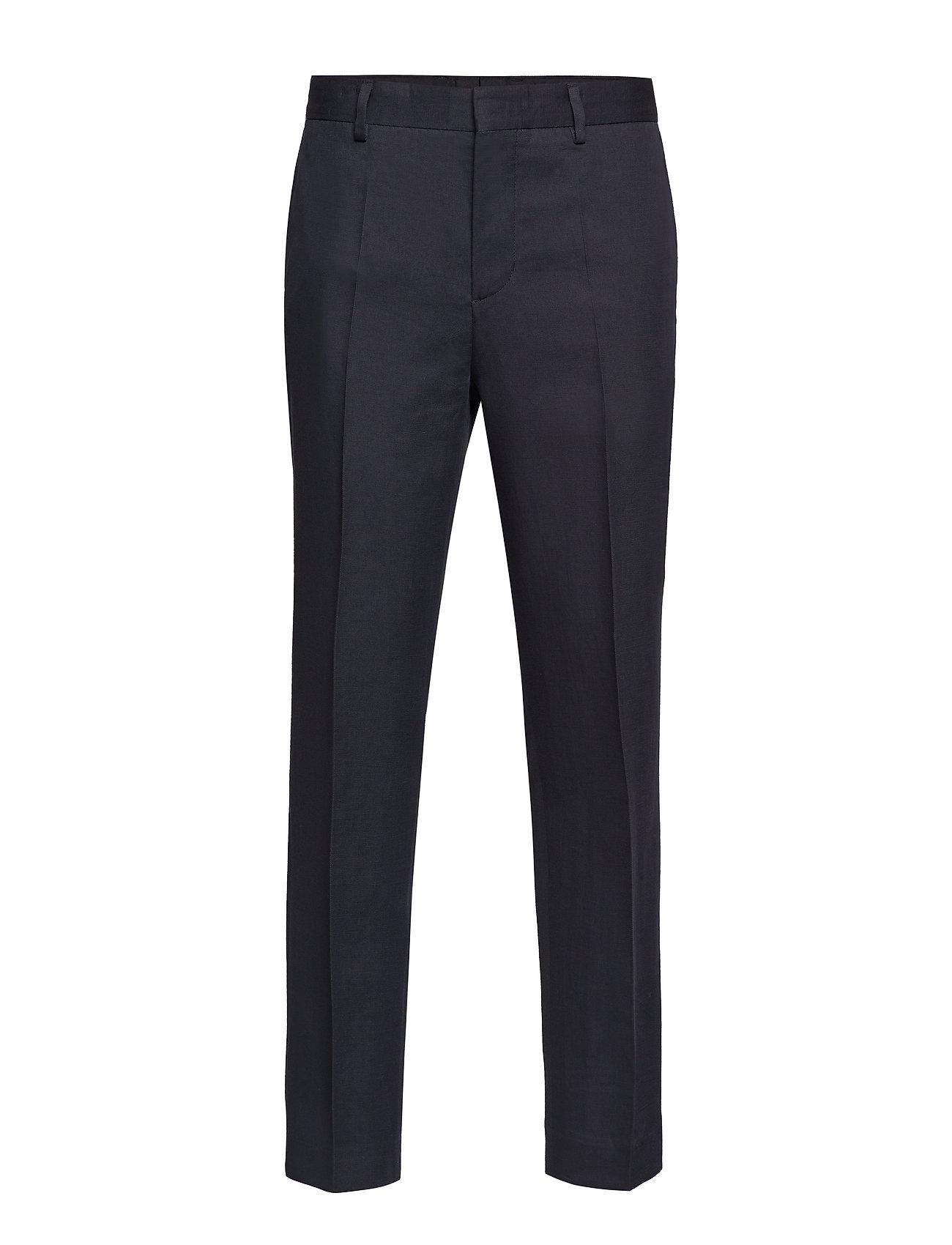 Image of M. Justin Drapey Linen Trouser Habitbukser Stylede Bukser Sort Filippa K (3190776159)