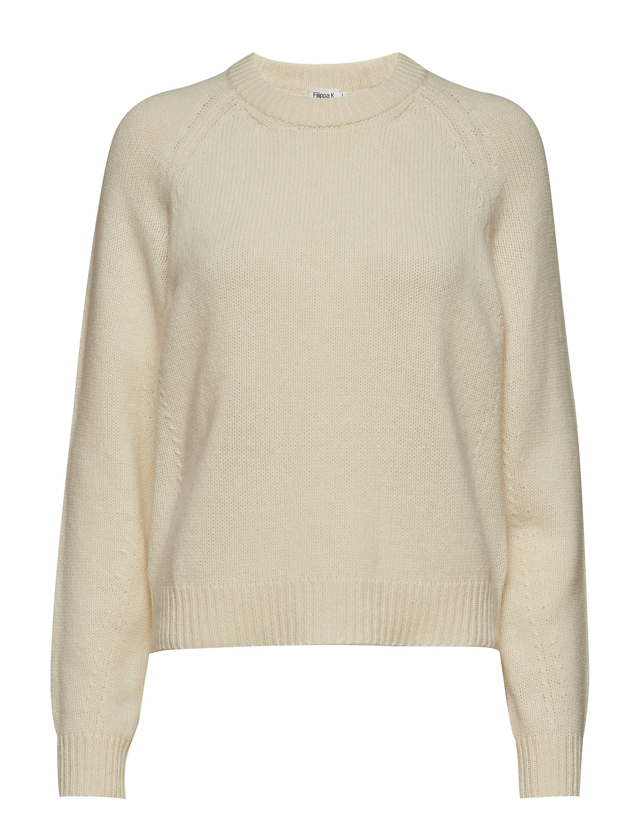 Filippa K Soft R-Neck Sweater - OFF WHITE