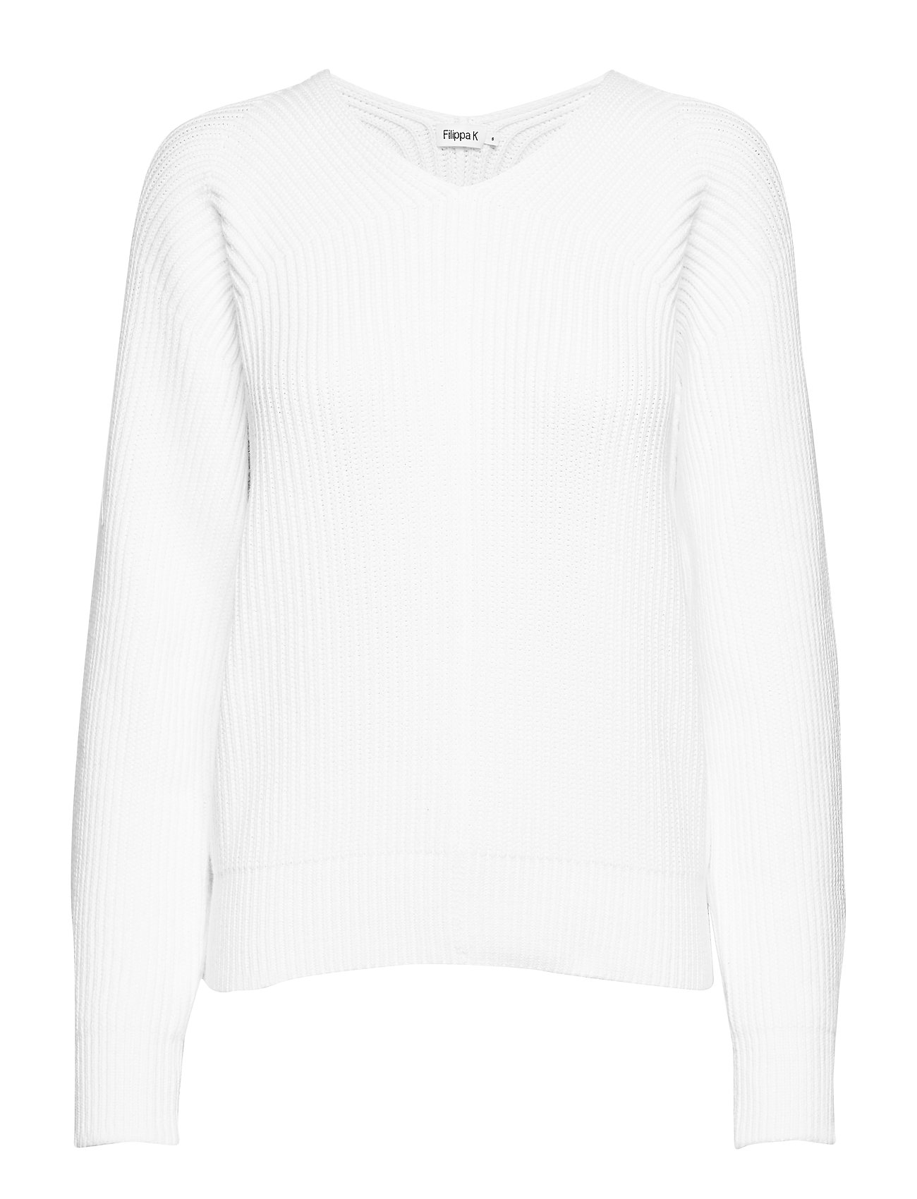 Filippa K Chunky V-Neck Sweater - WHITE