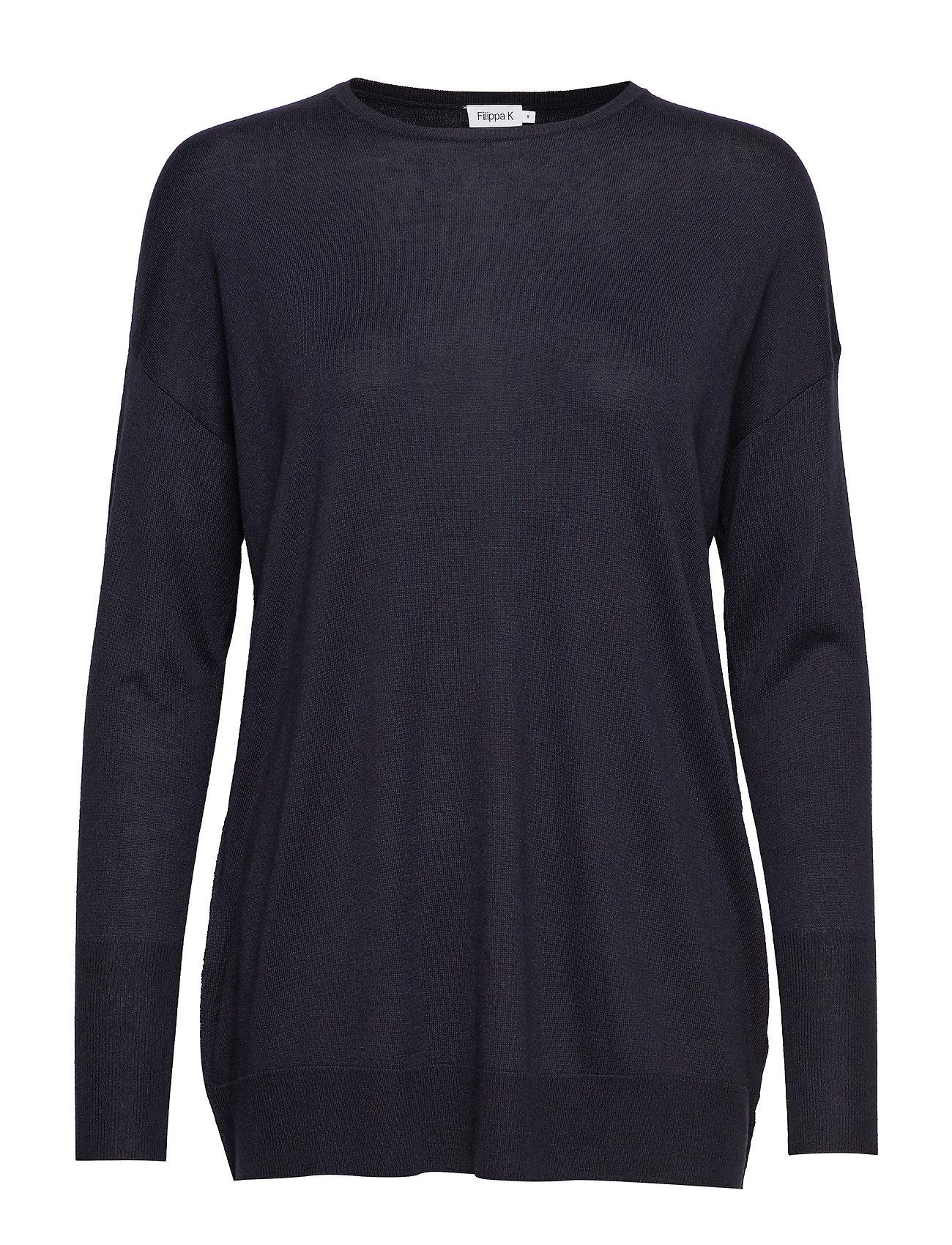 Filippa K Silky Fine Knit Sweater - NAVY