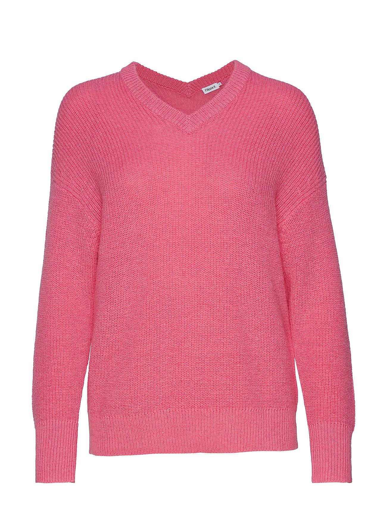 Filippa K Alpaca V-Neck Sweater - WATERLILY