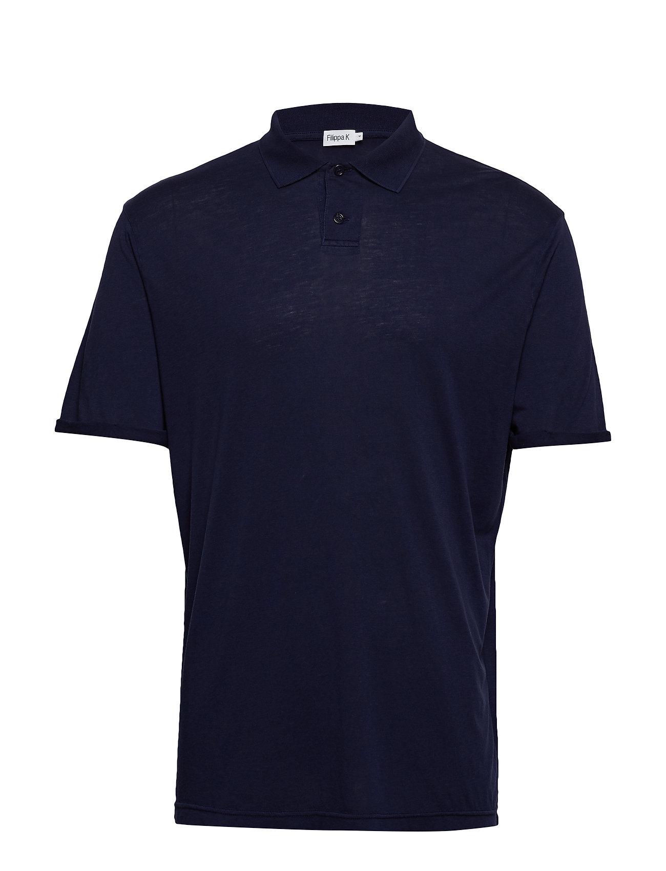 Filippa K M. Tencel Poloshirt - DEEPWATER