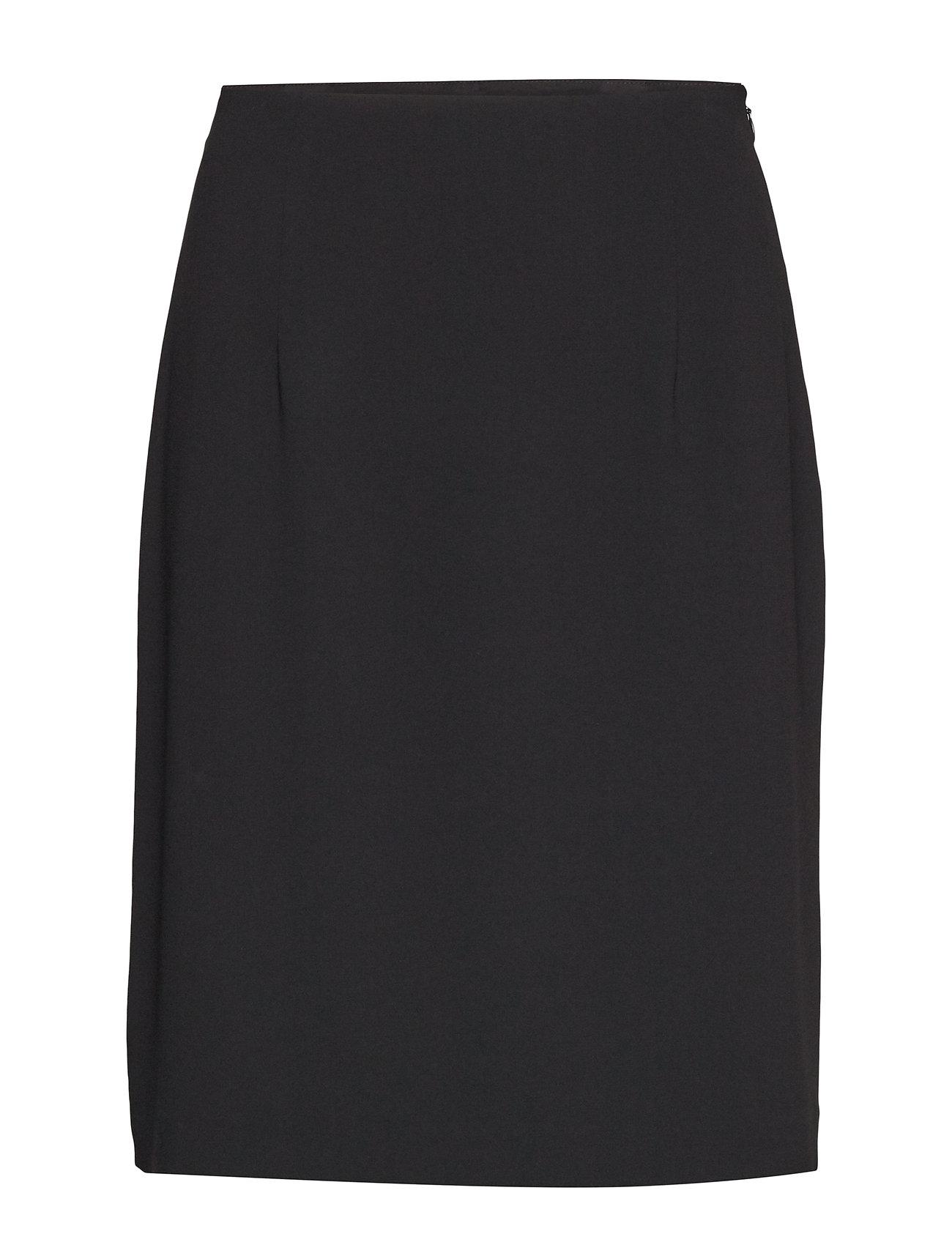 Filippa K High Waist Crepe Skirt - BLACK