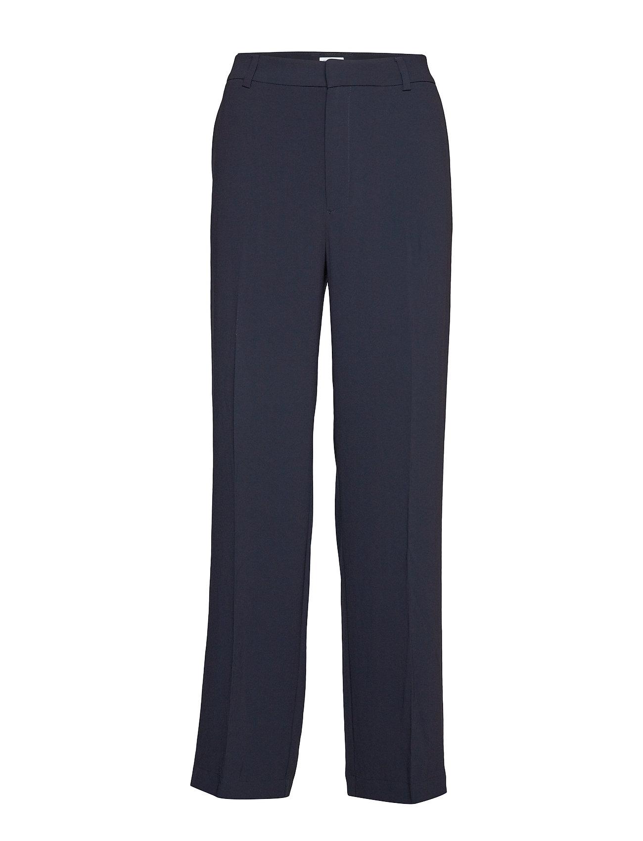 Image of Hutton Crepe Trouser Bukser Med Lige Ben Blå Filippa K (3186825549)