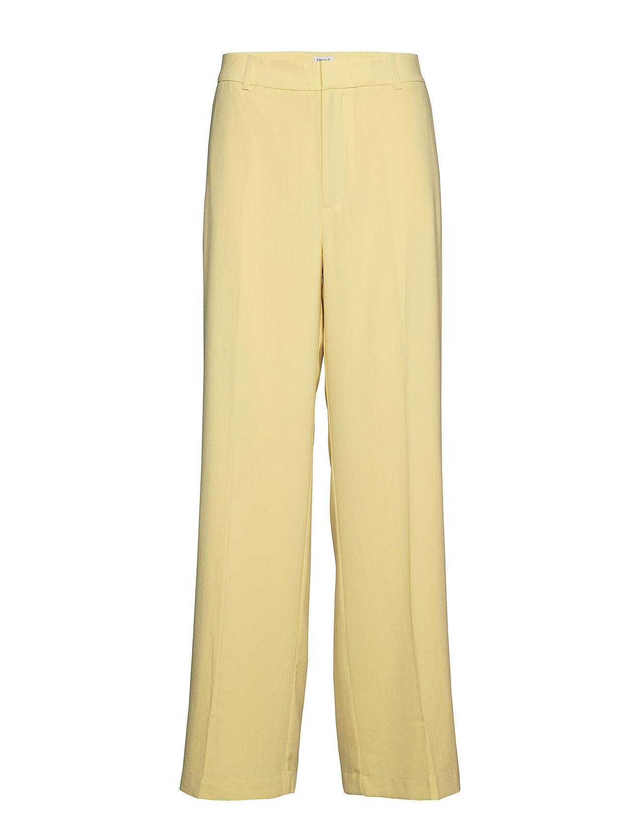 Image of Hutton Crepe Trouser Bukser Med Lige Ben Gul FILIPPA K (3187199065)