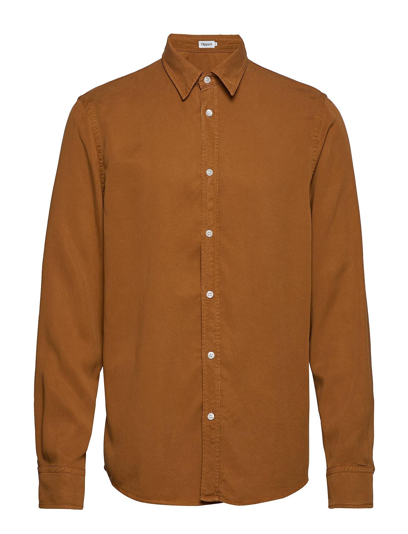 Filippa K M. Ben Tencel Shirt - DARK OCHRE