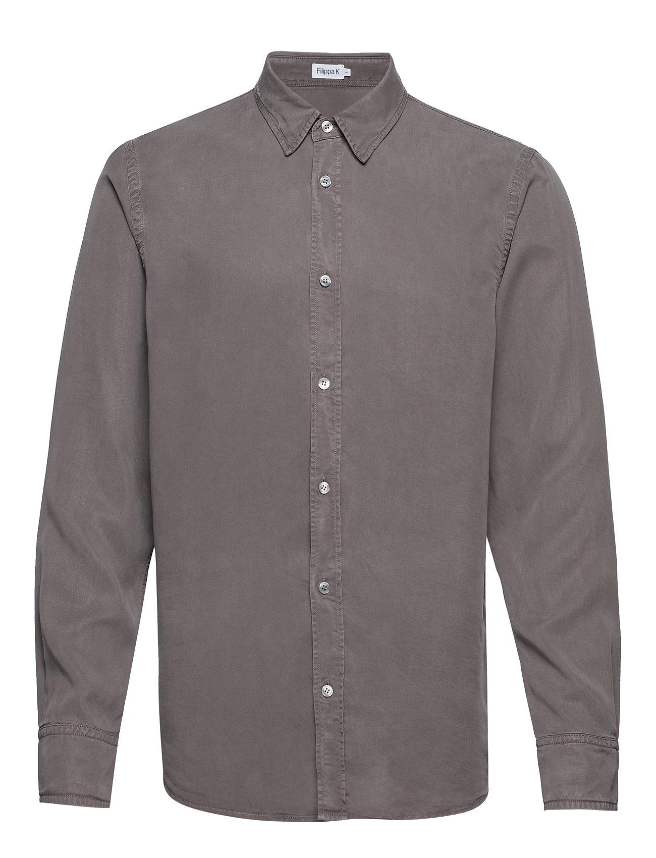 Filippa K M. Ben Tencel Shirt - GULL GREY