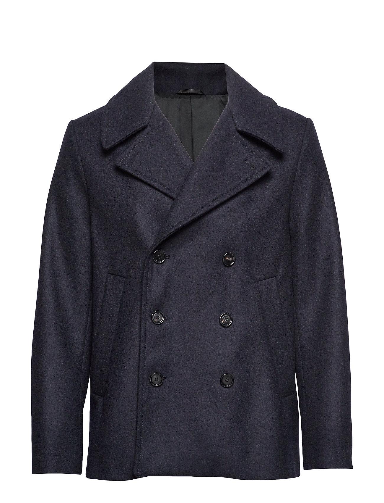 Filippa K M. Hague Pea Coat - BLUE BLACK