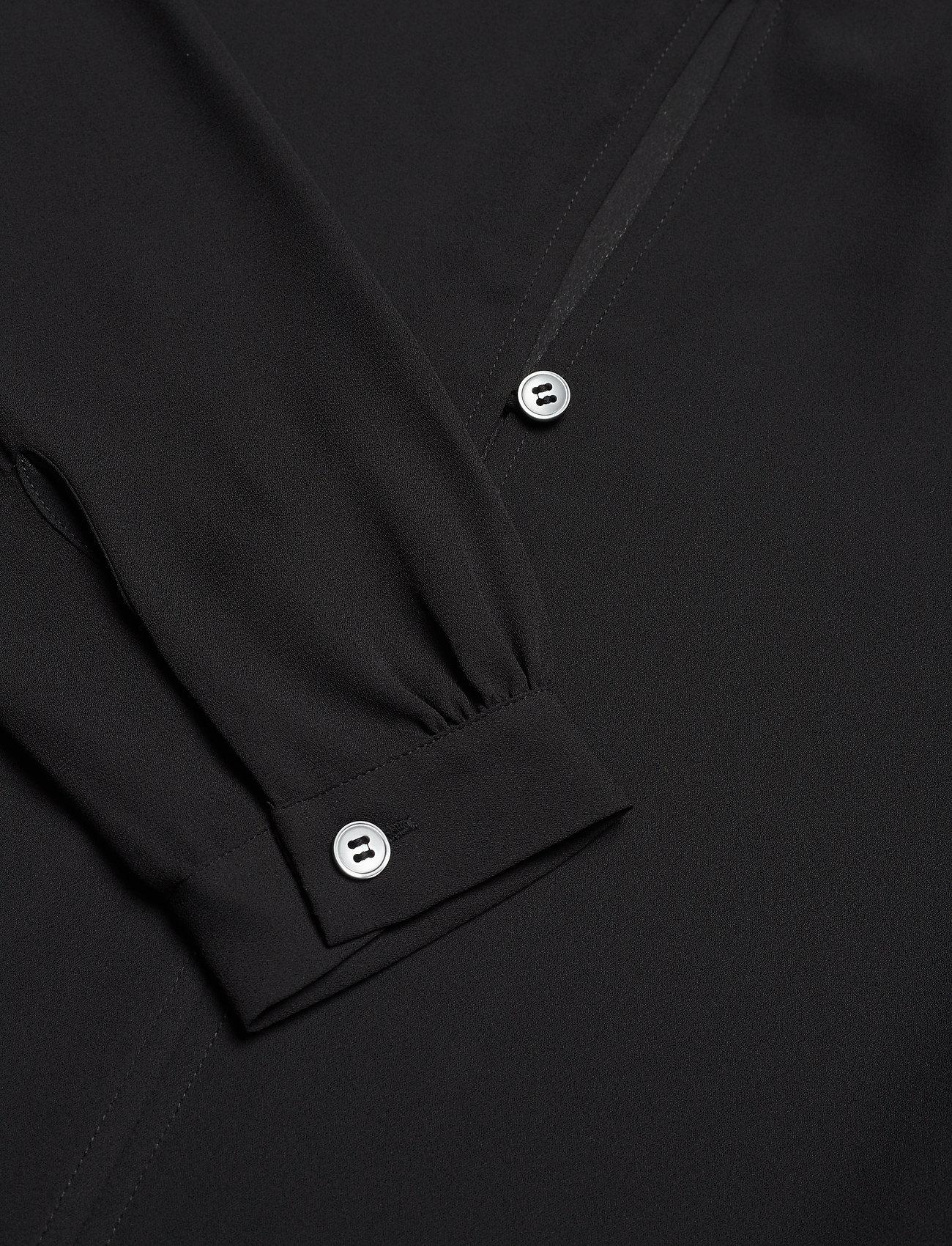 Filippa K - Ada Tunic Blouse - long sleeved blouses - black - 2