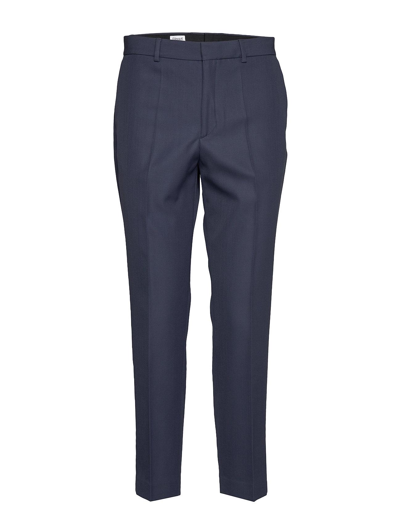Image of Emma Suiting Trouser Bukser Med Lige Ben Blå Filippa K (3232787479)