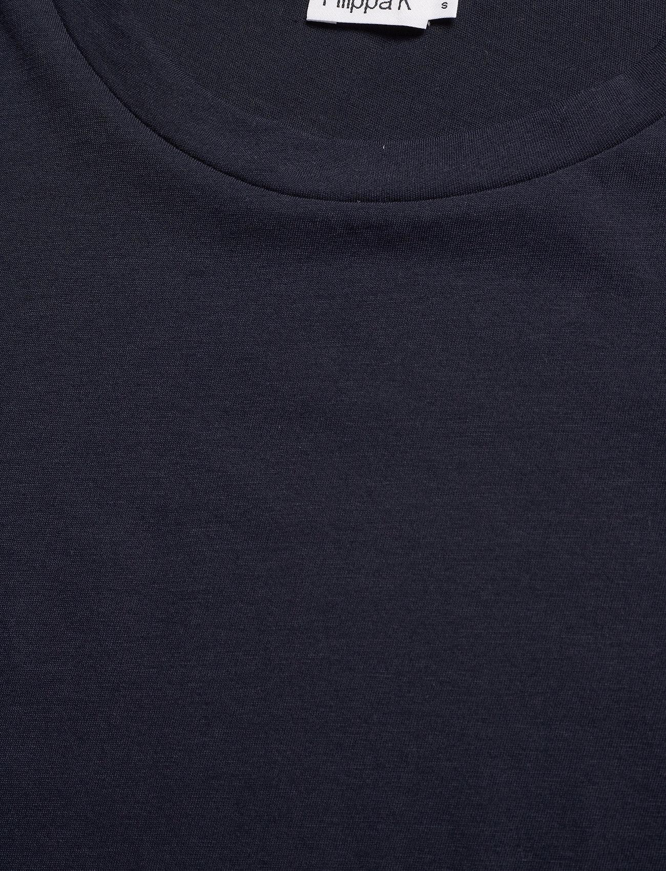 Filippa K - Cotton Tee - t-shirts - navy - 2