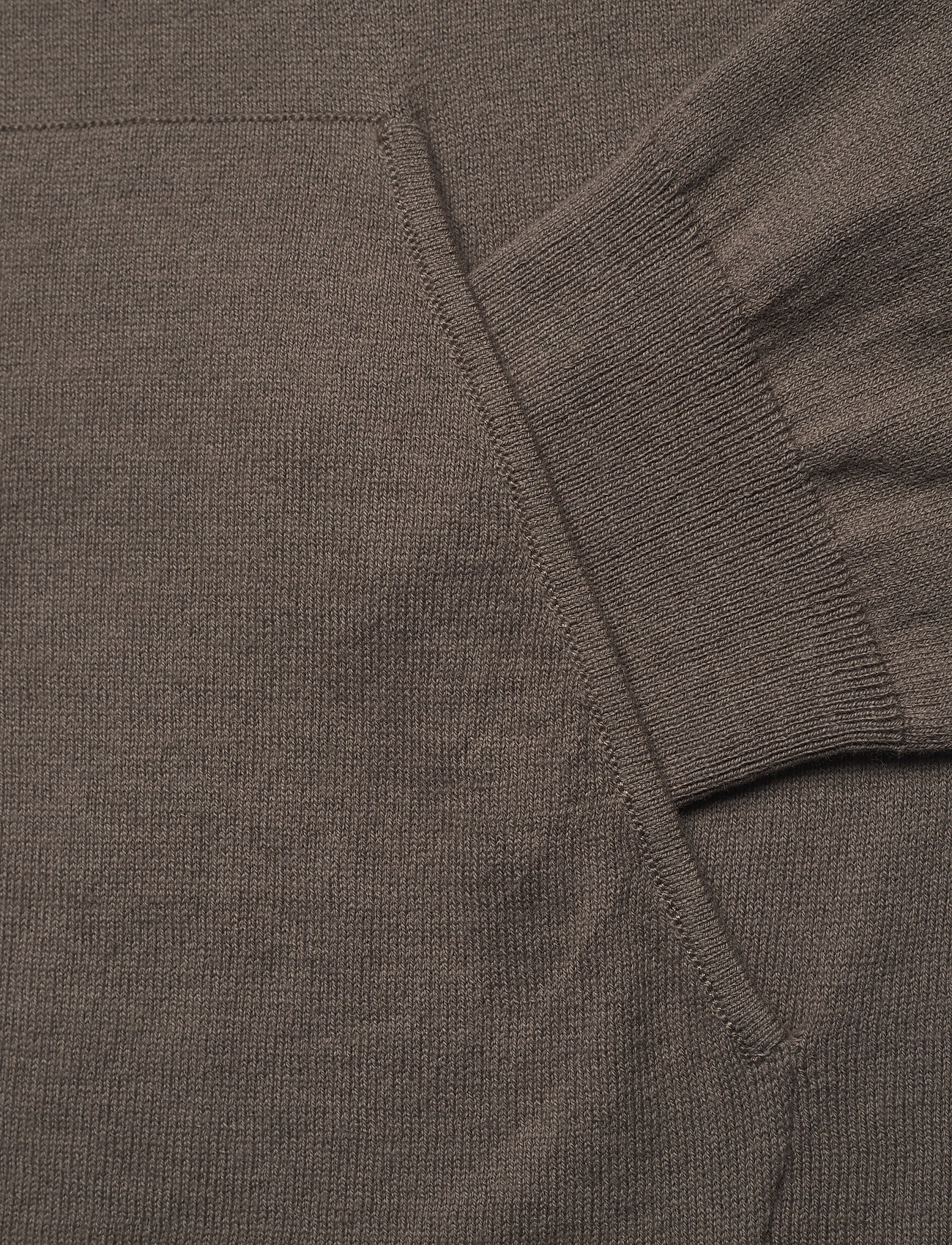 Filippa K - M. Arthur Knitted Hoodie - hoodies - dark taupe - 3