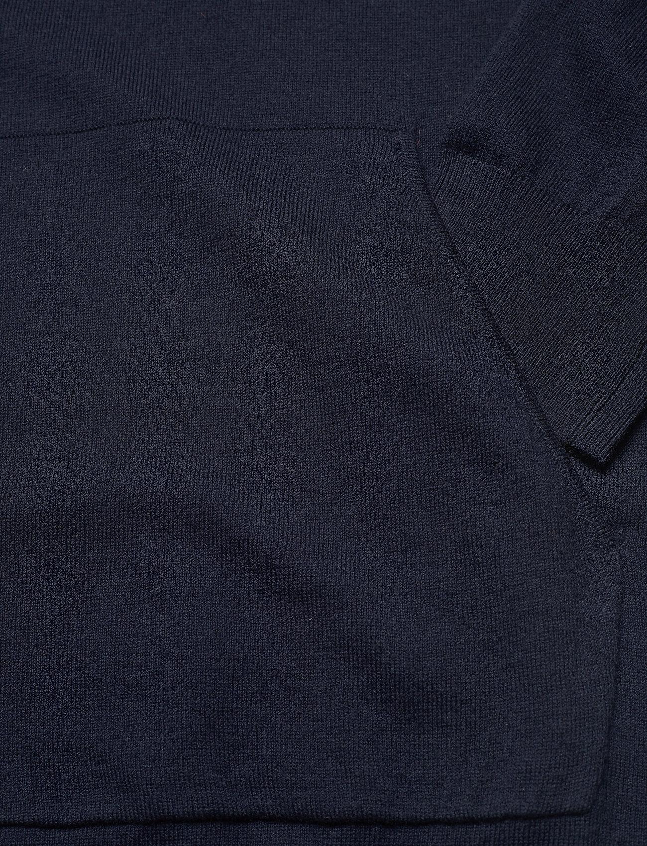 Filippa K - M. Arthur Knitted Hoodie - hoodies - navy - 3