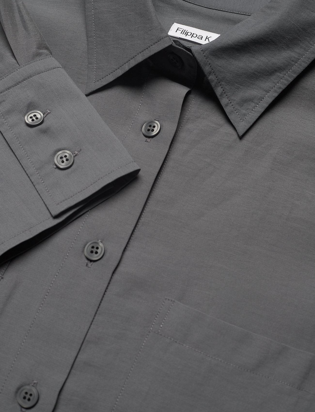 Filippa K - Helena Shirt - long-sleeved shirts - metal - 2