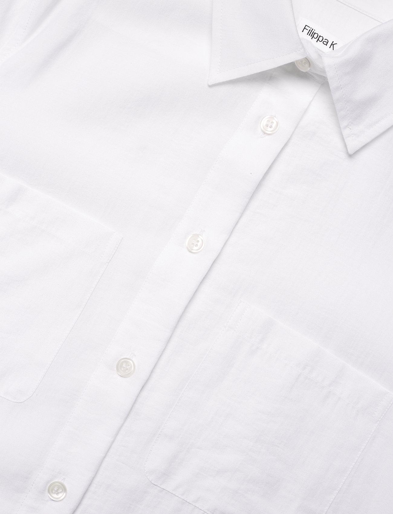 Filippa K - Helena Shirt - denim shirts - white chal - 2