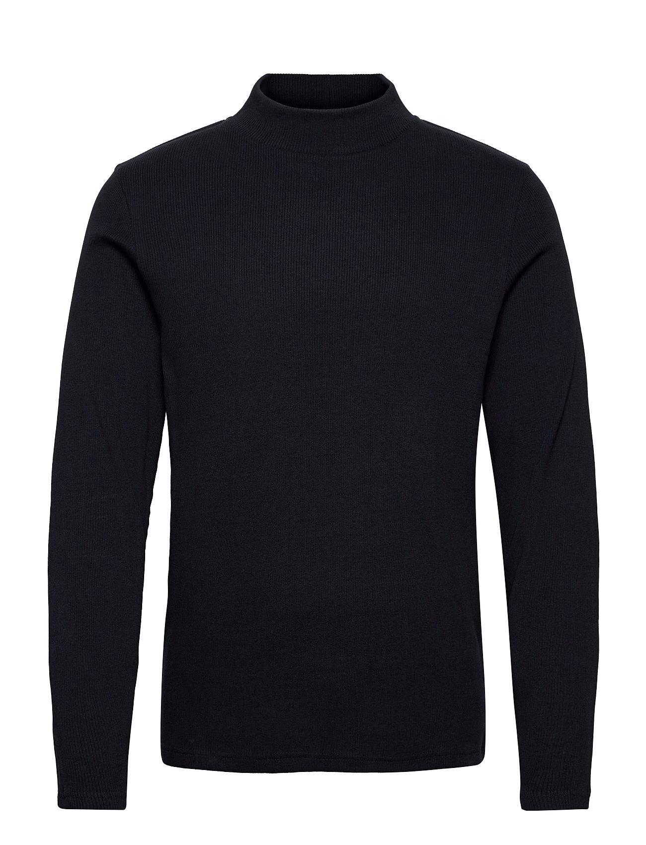 M. Rib Mock Neck Tee T-Langærmet Skjorte Blå Filippa K