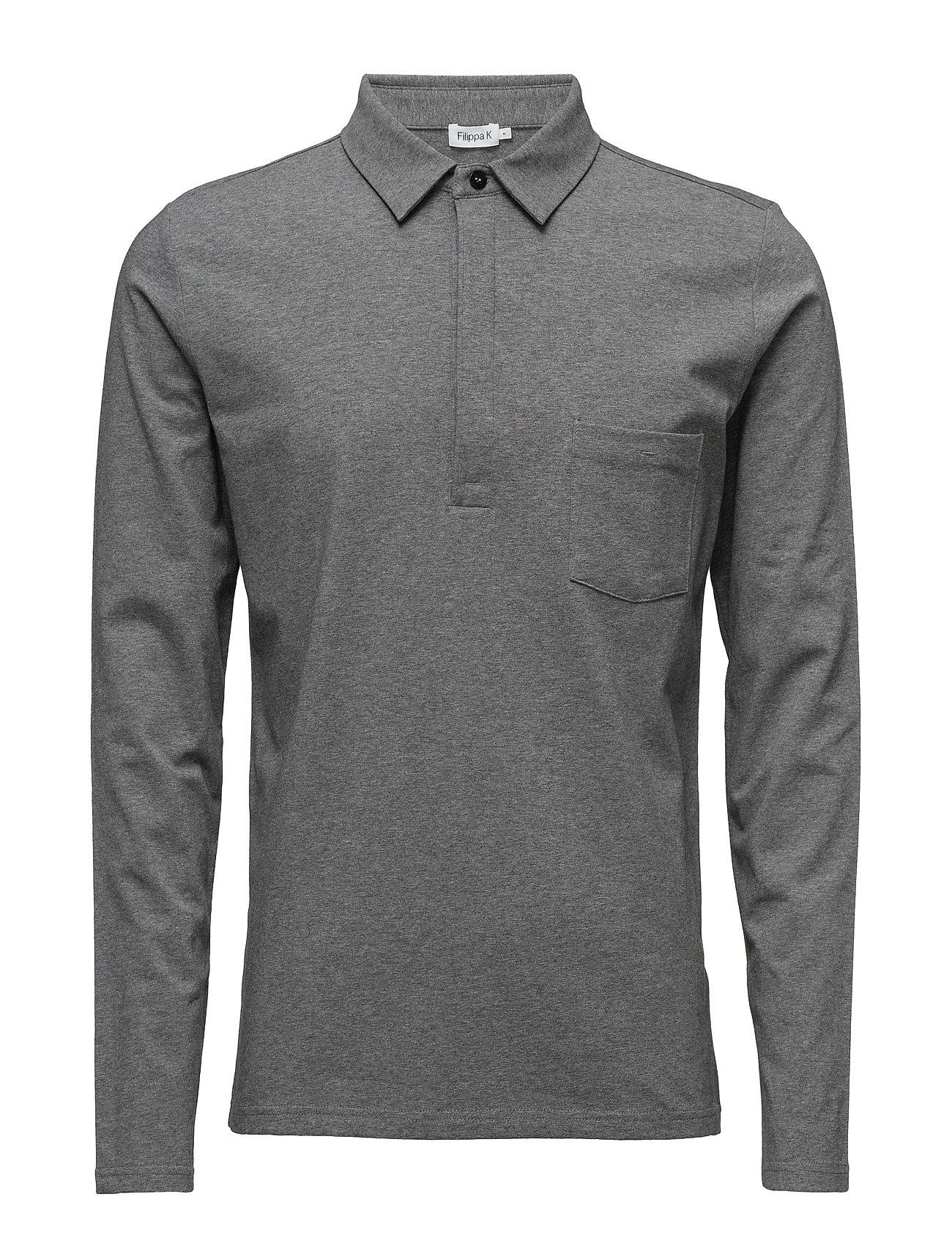 Filippa K M. Soft Lycra Poloshirt - GREY MEL.