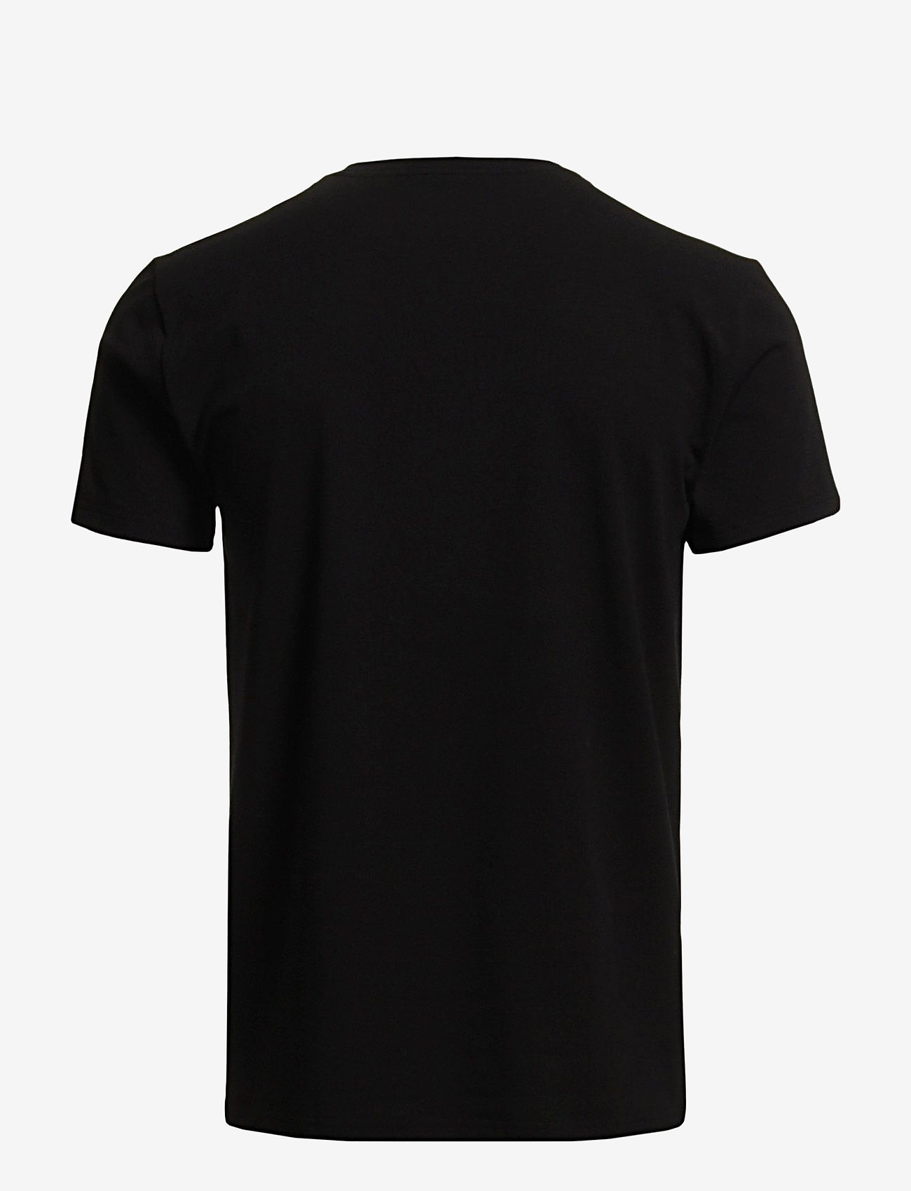 Filippa K - M. Lycra V-Neck Tee - kortermede t-skjorter - black - 1