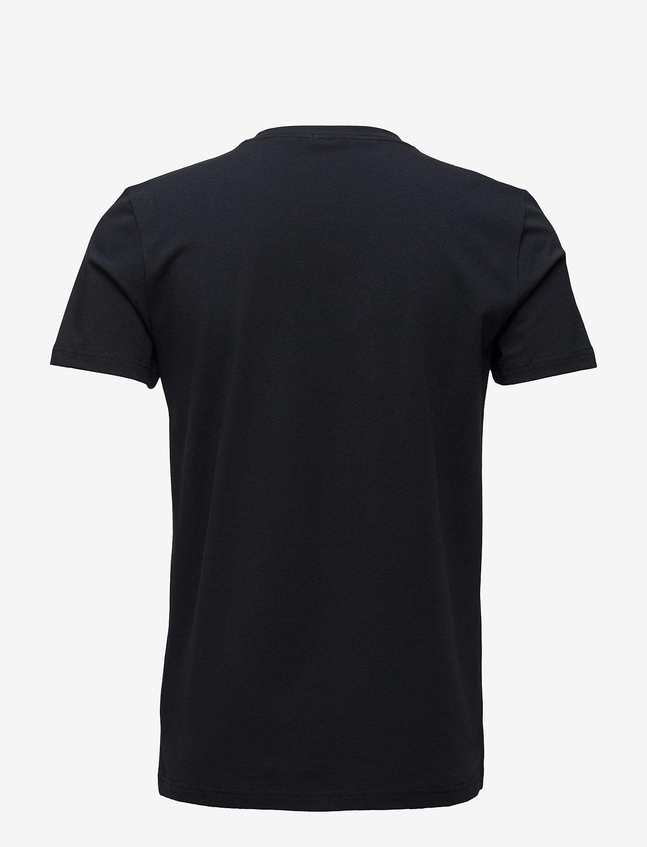 Filippa K - M. Lycra V-Neck Tee - short-sleeved t-shirts - navy - 1