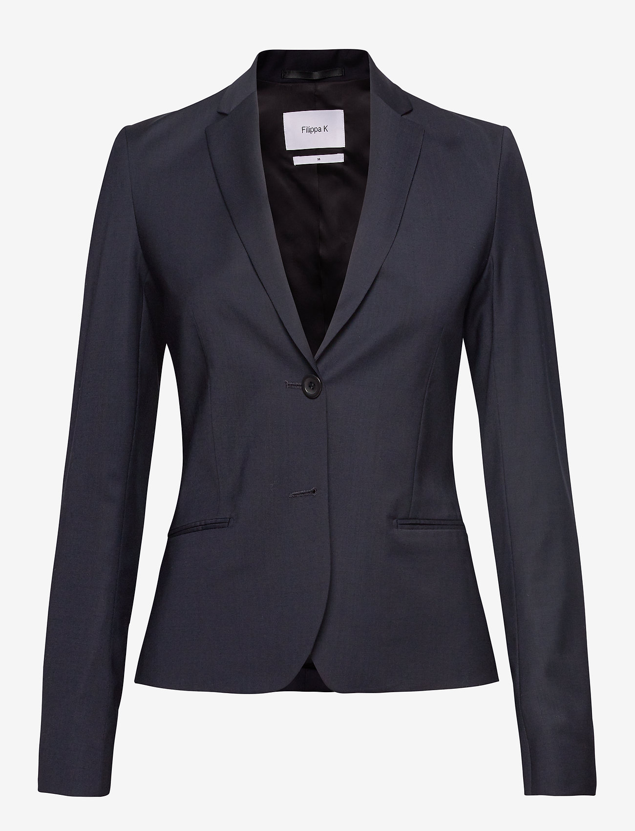 Filippa K - Jackie Cool Wool Jacket - blazere - dk. navy