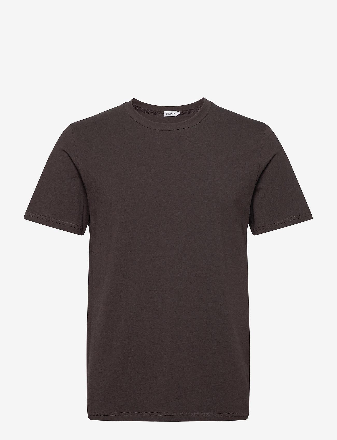 Filippa K - M. Lycra Tee - basis-t-skjorter - dark mole - 0