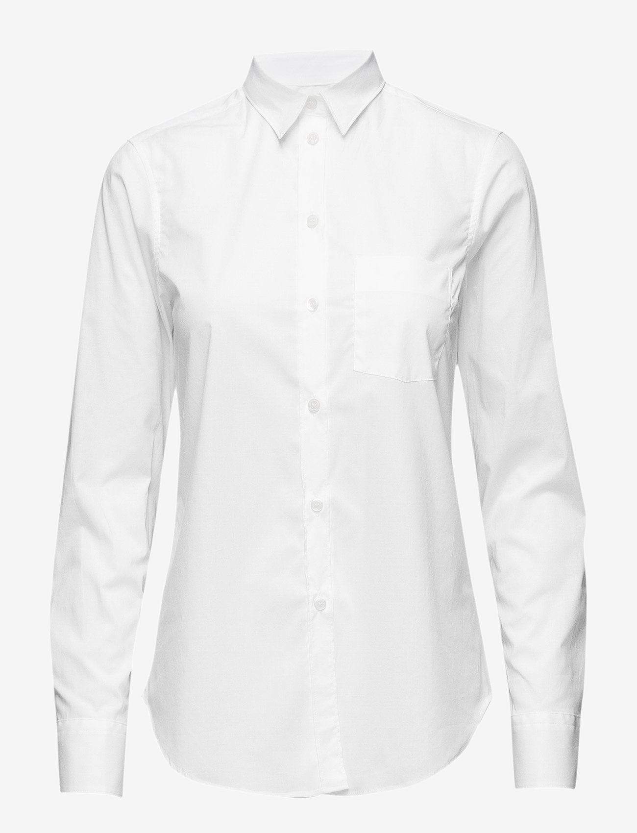 Filippa K - Classic Stretch Shirt - long-sleeved shirts - white - 0