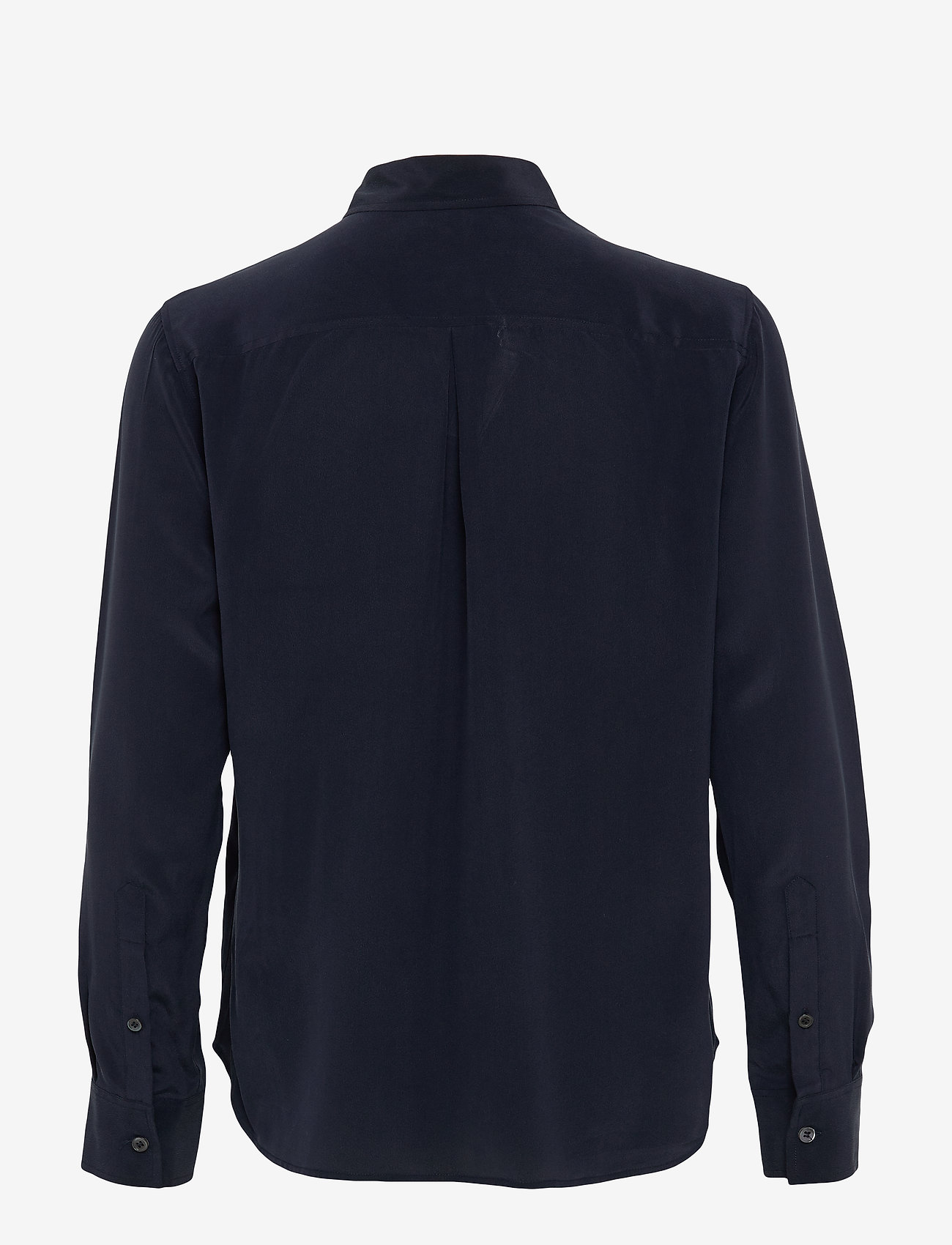 Filippa K - Classic Silk Shirt - chemises à manches longues - navy