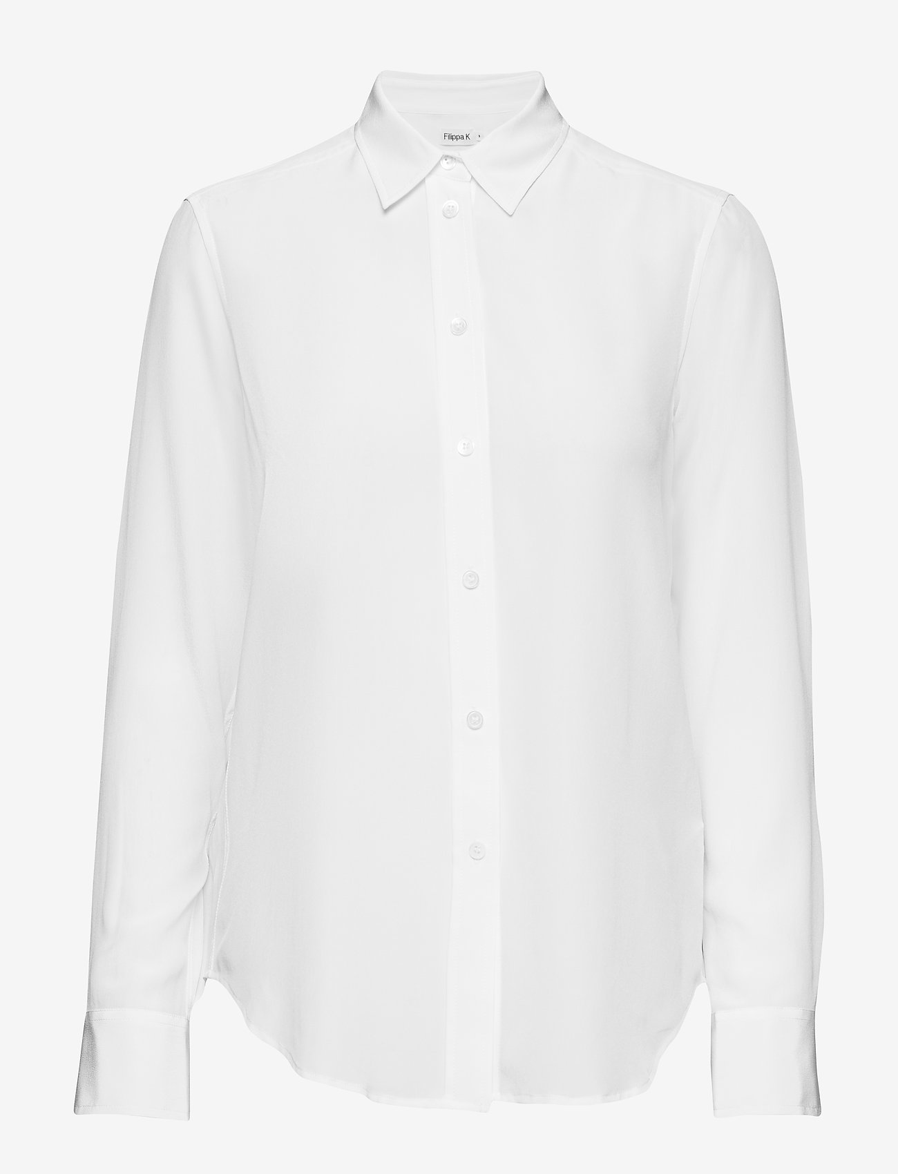 Filippa K - Classic Silk Shirt - overhemden met lange mouwen - white