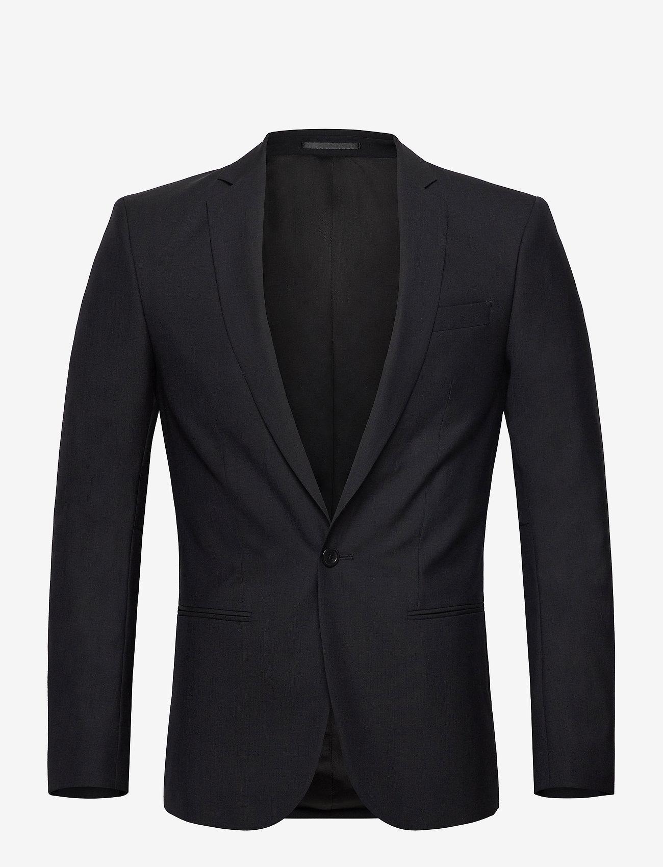 Filippa K - M. Christian Cool Wool Jacket - yksiriviset bleiserit - dk. navy - 0