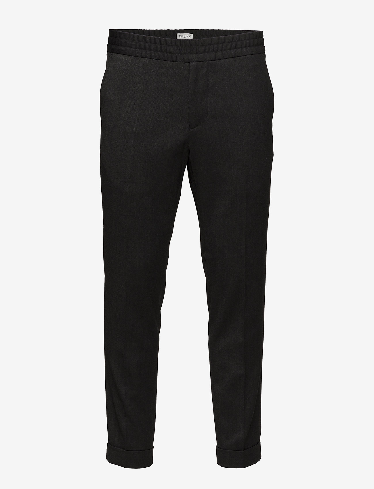 Filippa K - TERRY CROPPED TROUSER - suit trousers - anthracite - 0